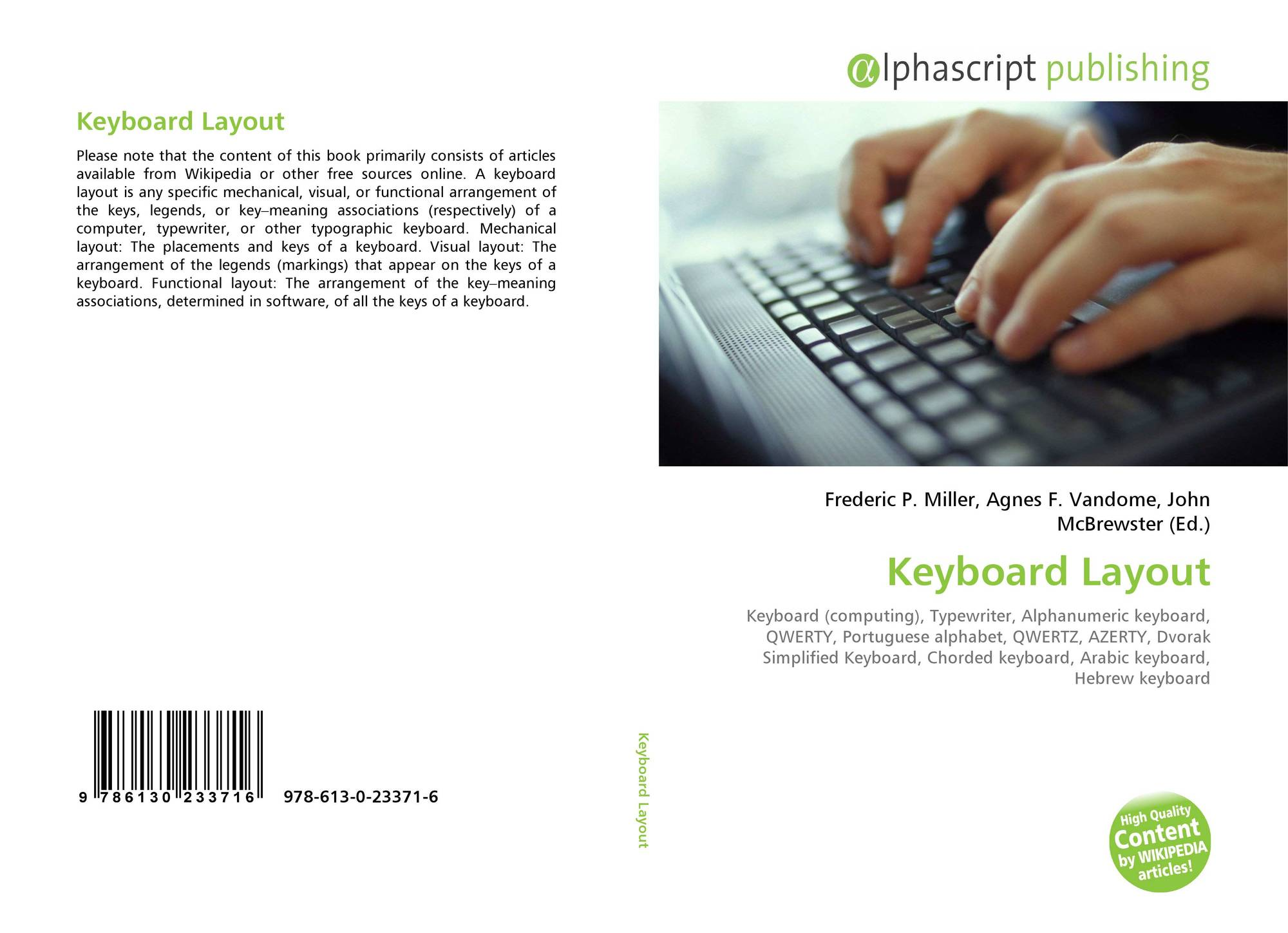Keyboard Layout, 978-613-0-23371-6, 613023371X ,9786130233716
