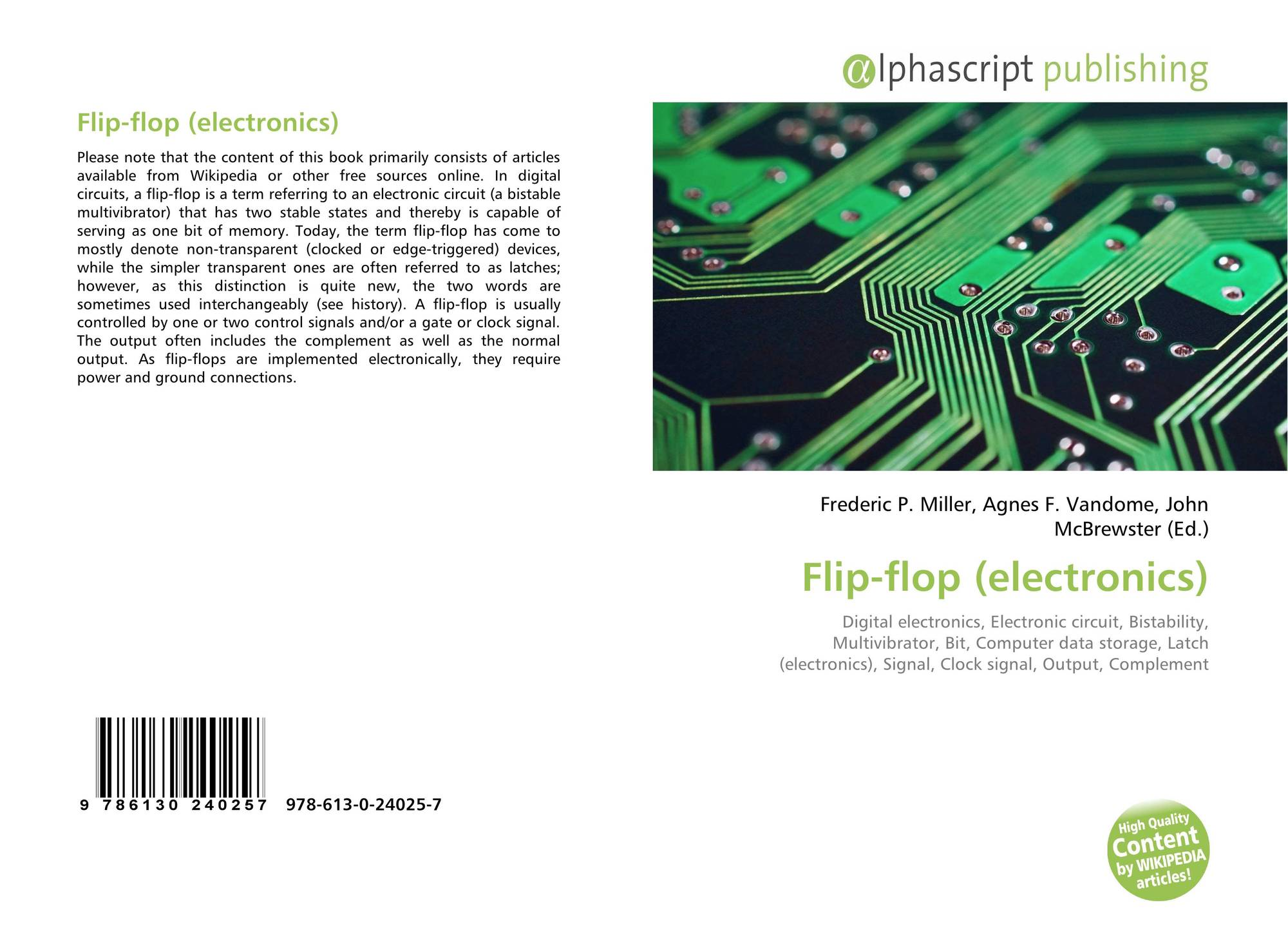 Search Results For Flop Bistable Flip Circuit Bookcover Of Electronics
