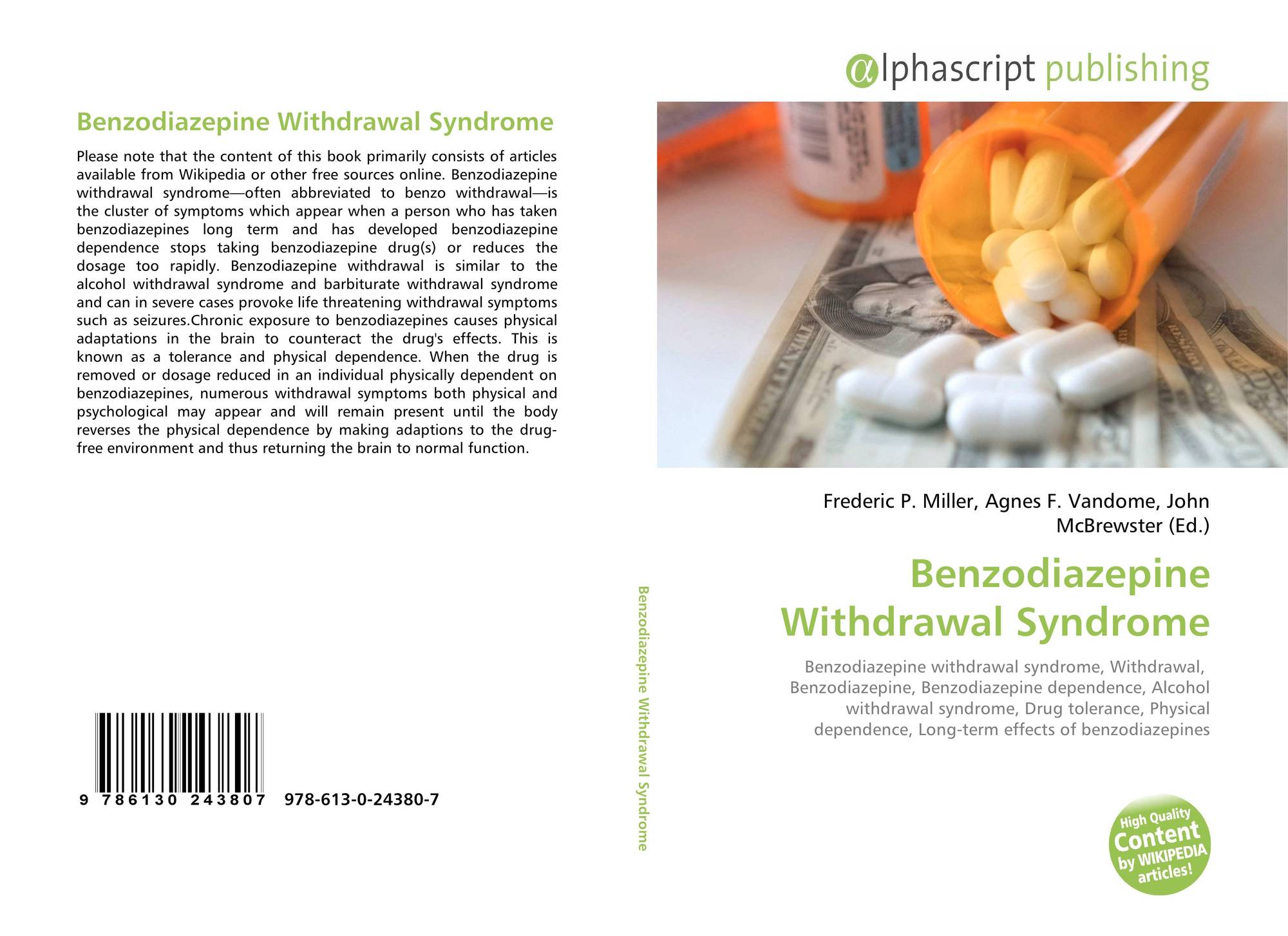 Benzodiazepine Withdrawal Syndrome, 978-613-0-24380-7