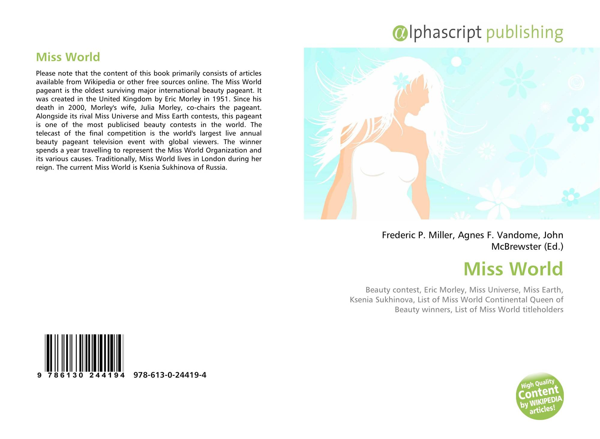 Miss World, 978-613-0-24419-4, 6130244193 ,9786130244194