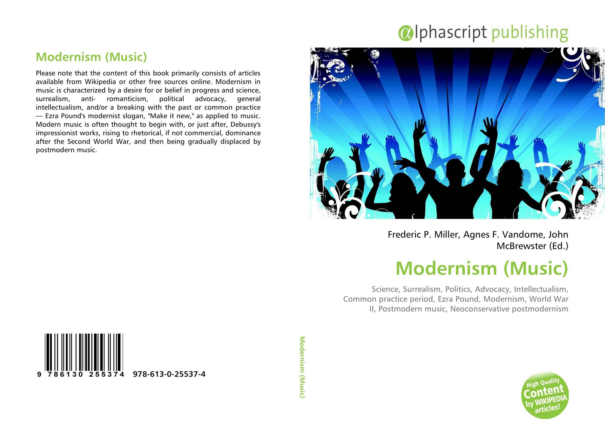Modernism (Music), 978-613-0-25537-4, 6130255373 ,9786130255374