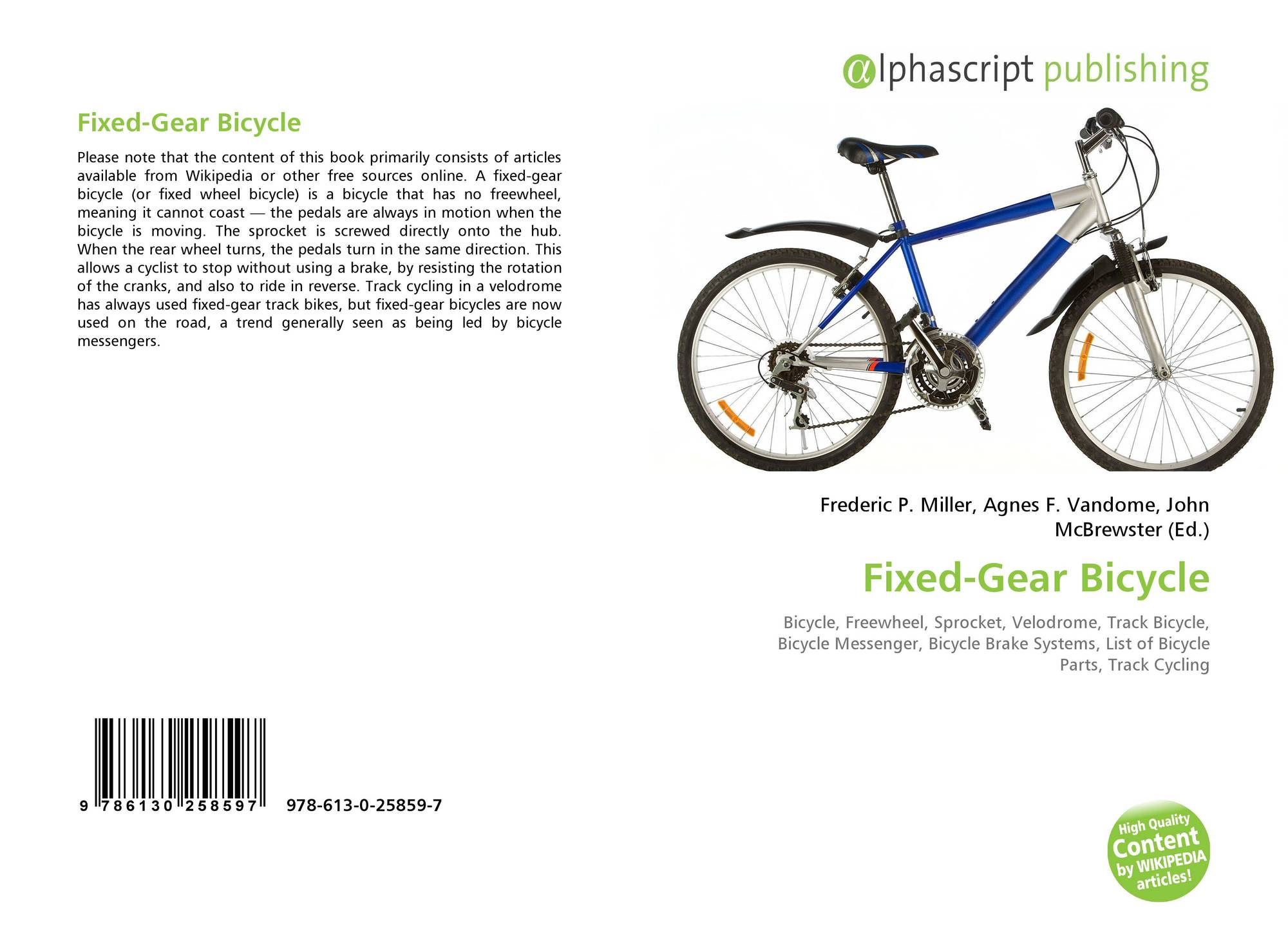 Fixed-Gear Bicycle, 978-613-0-25859-7, 6130258593 ,9786130258597