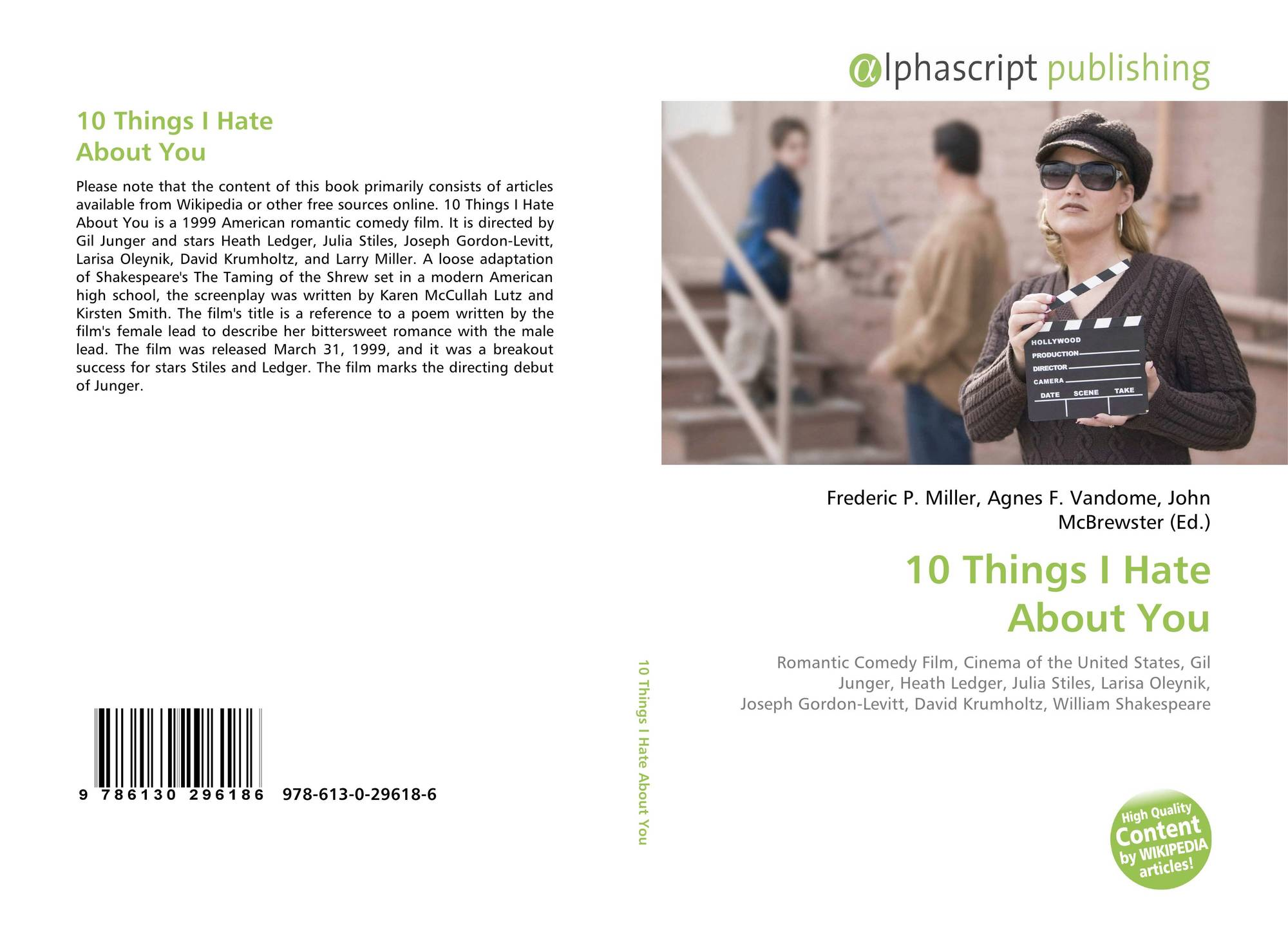 10 Things I Hate About You Cover: 10 Things I Hate About You, 978-613-0-29618-6, 6130296185