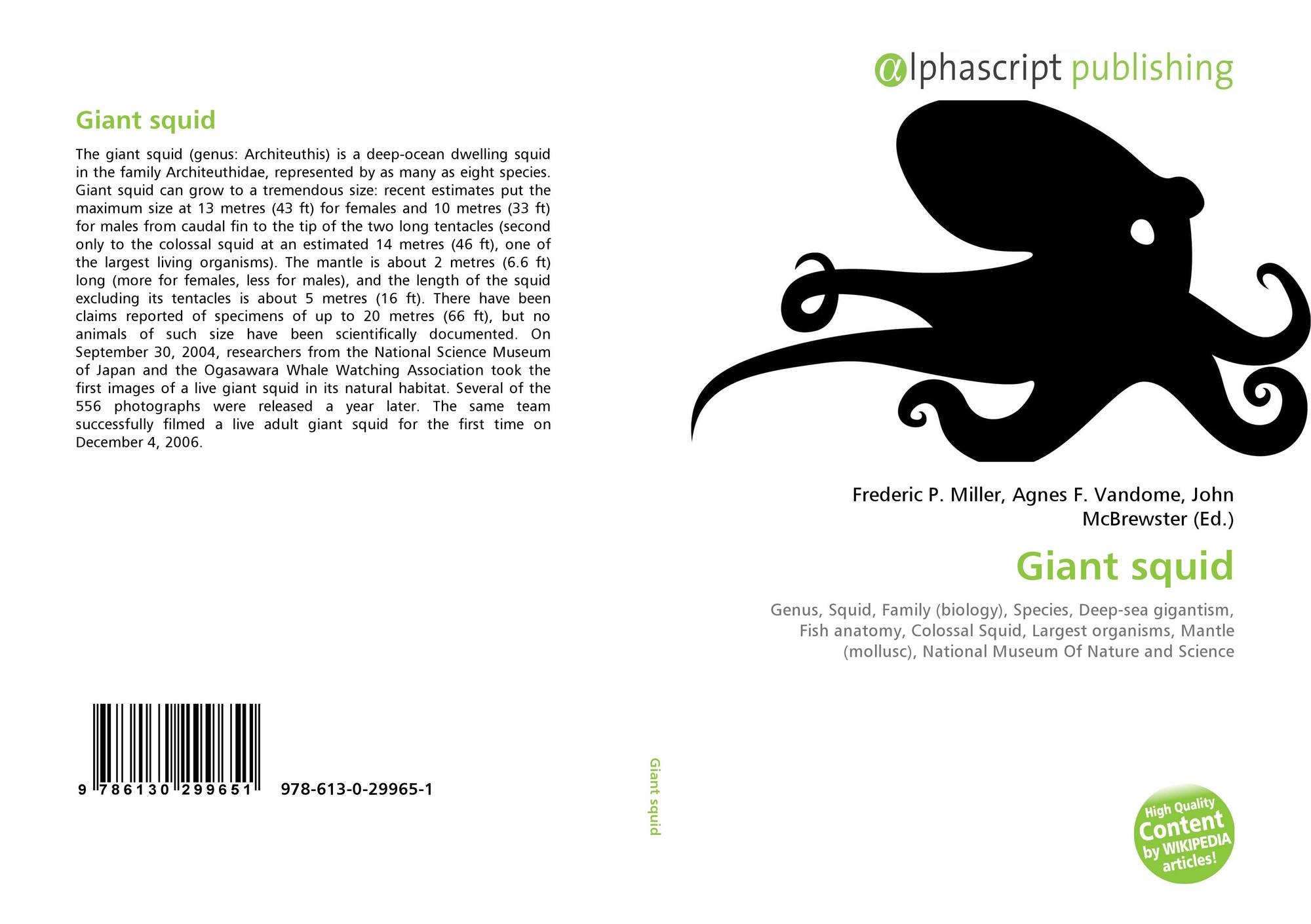 Giant squid, 978-613-0-29965-1, 6130299656 ,9786130299651