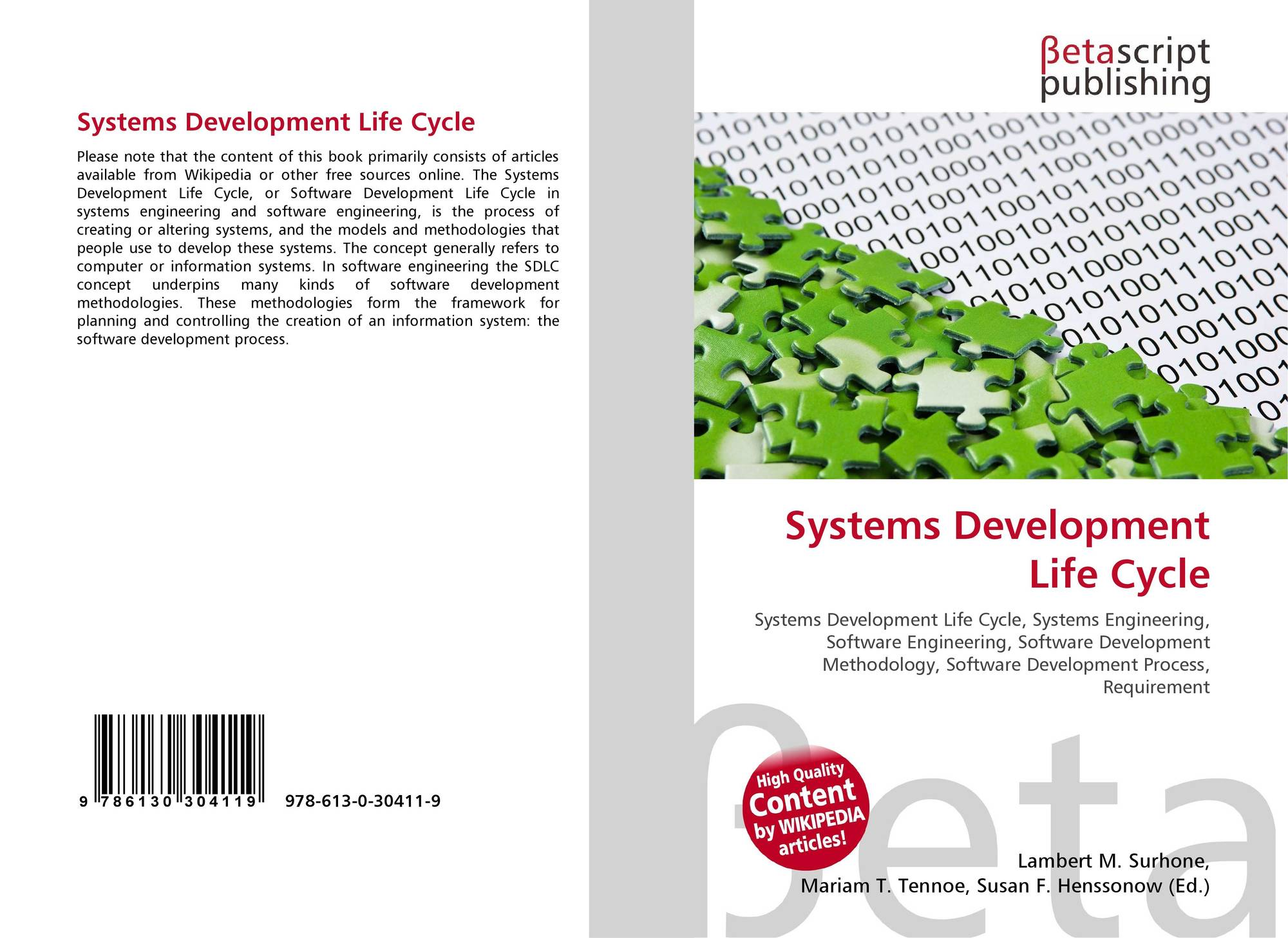 Systems Development Life Cycle, 9 9 9 39411 9, 99394119 ...