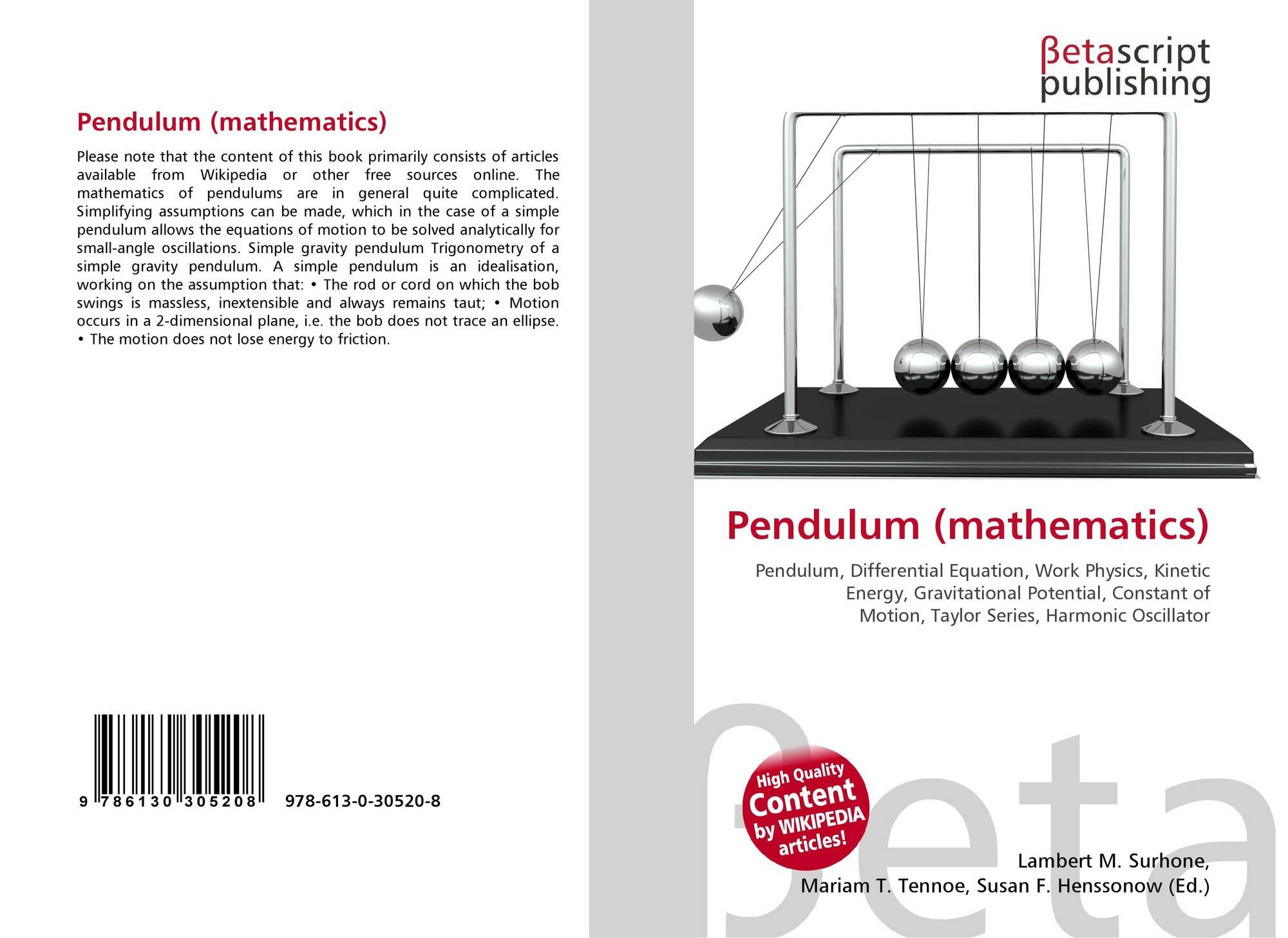 Pendulum (mathematics), 978-613-0-30520-8, 6130305206