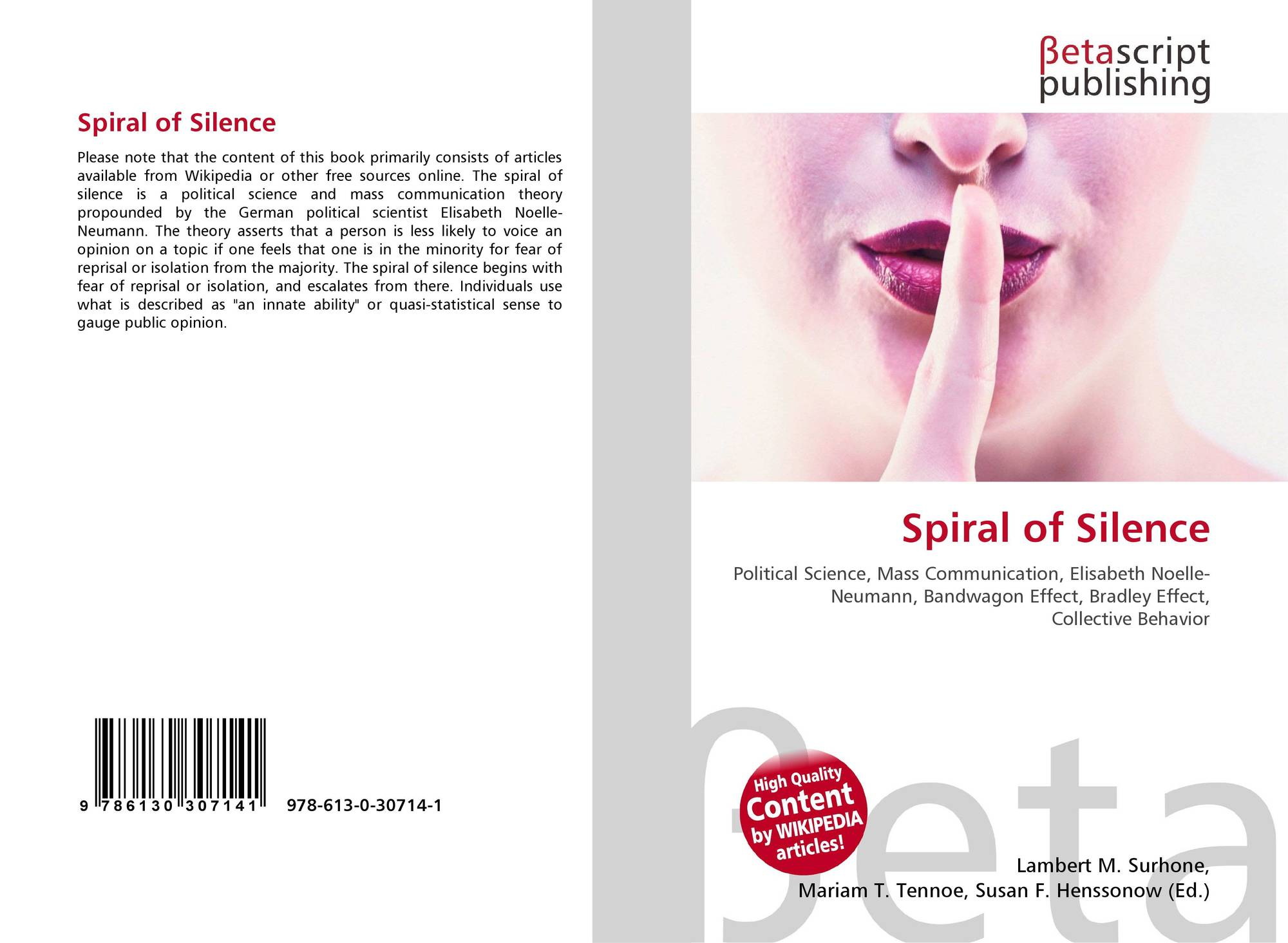 spiral of silence elisabeth noelle neumann Elisabeth noelle-neumann is the author of the spiral of silence (383 avg rating, 64 ratings, 4 reviews, published 1984), das fischer lexikon publizistik discover new books on goodreads see if your friends have read any of elisabeth noelle-neumann's books.