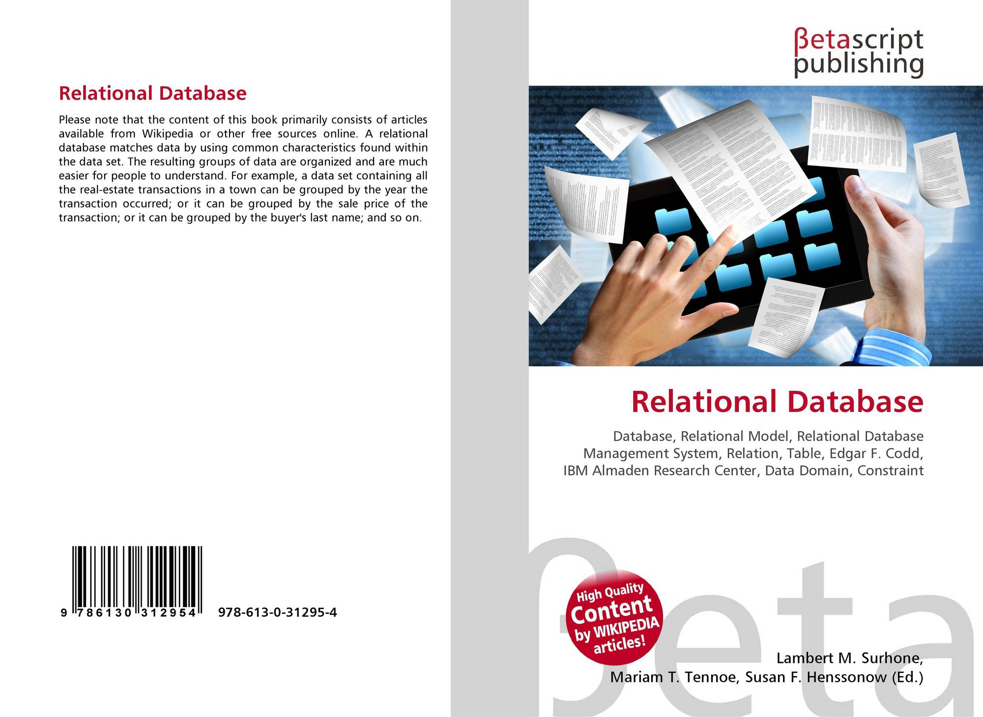 Search Results For Relational Database Management System Bookcover Of