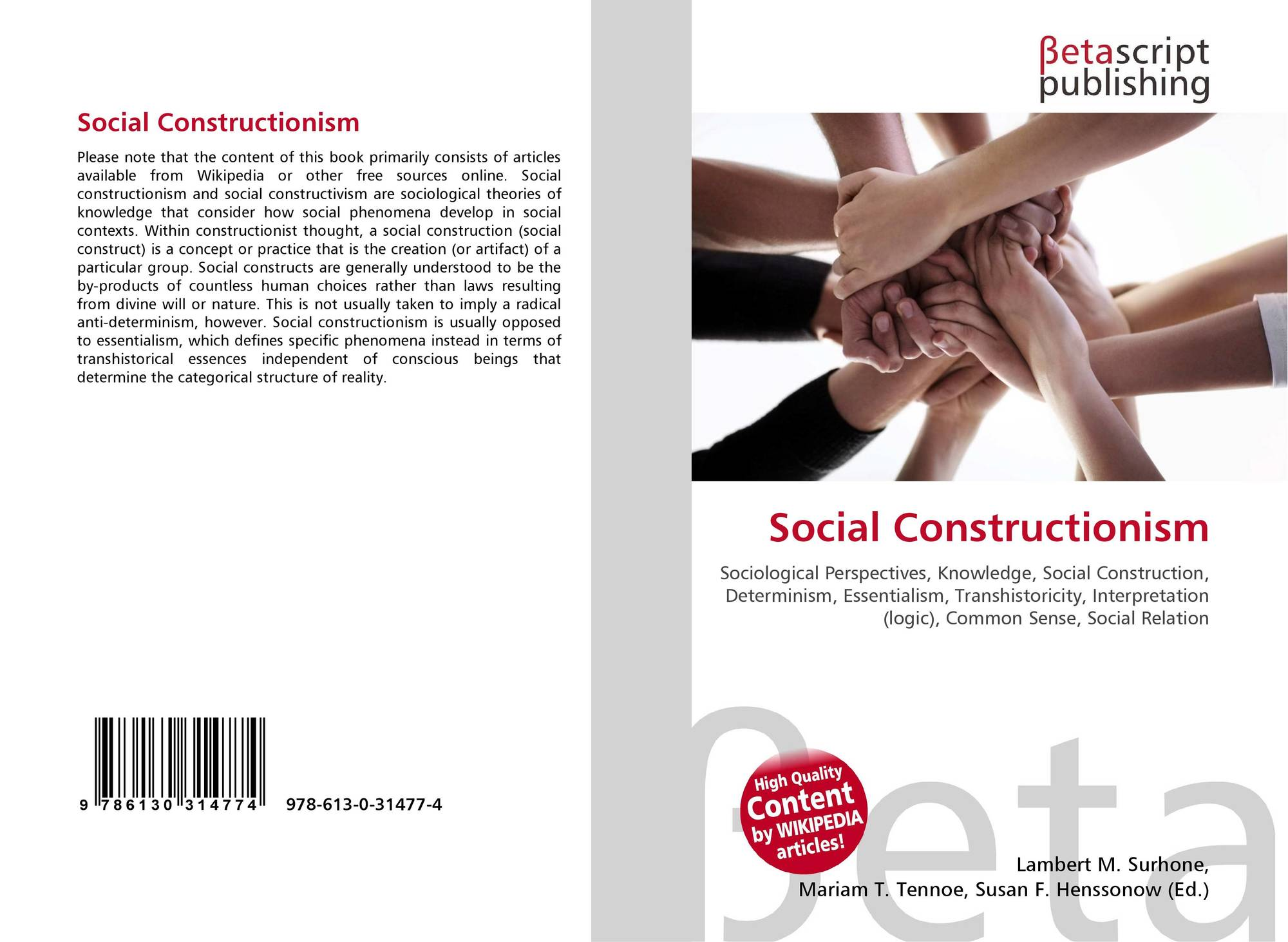 debate essentialism social construction Social structure influences human actions, but individual activities can similarly influence social structure berger and luckmann suggest that the relationship between structure and agency is one in which society forms the individuals who create society in a continuous dialectic.