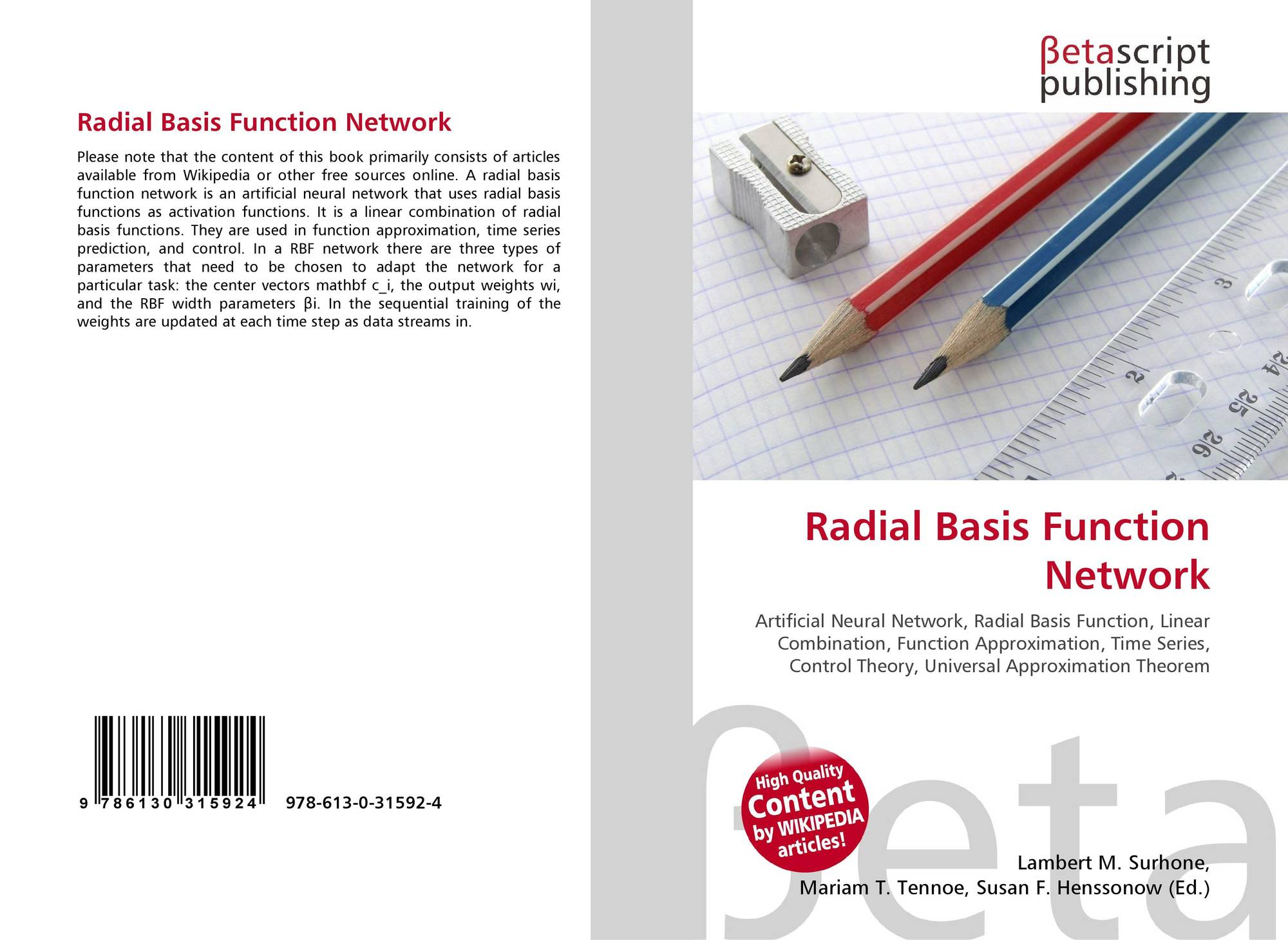radial basis function dissertation A radial basis function (rbf) is a term that describes any real valued function whose output depends exclusively on the distance of its input from some origin.