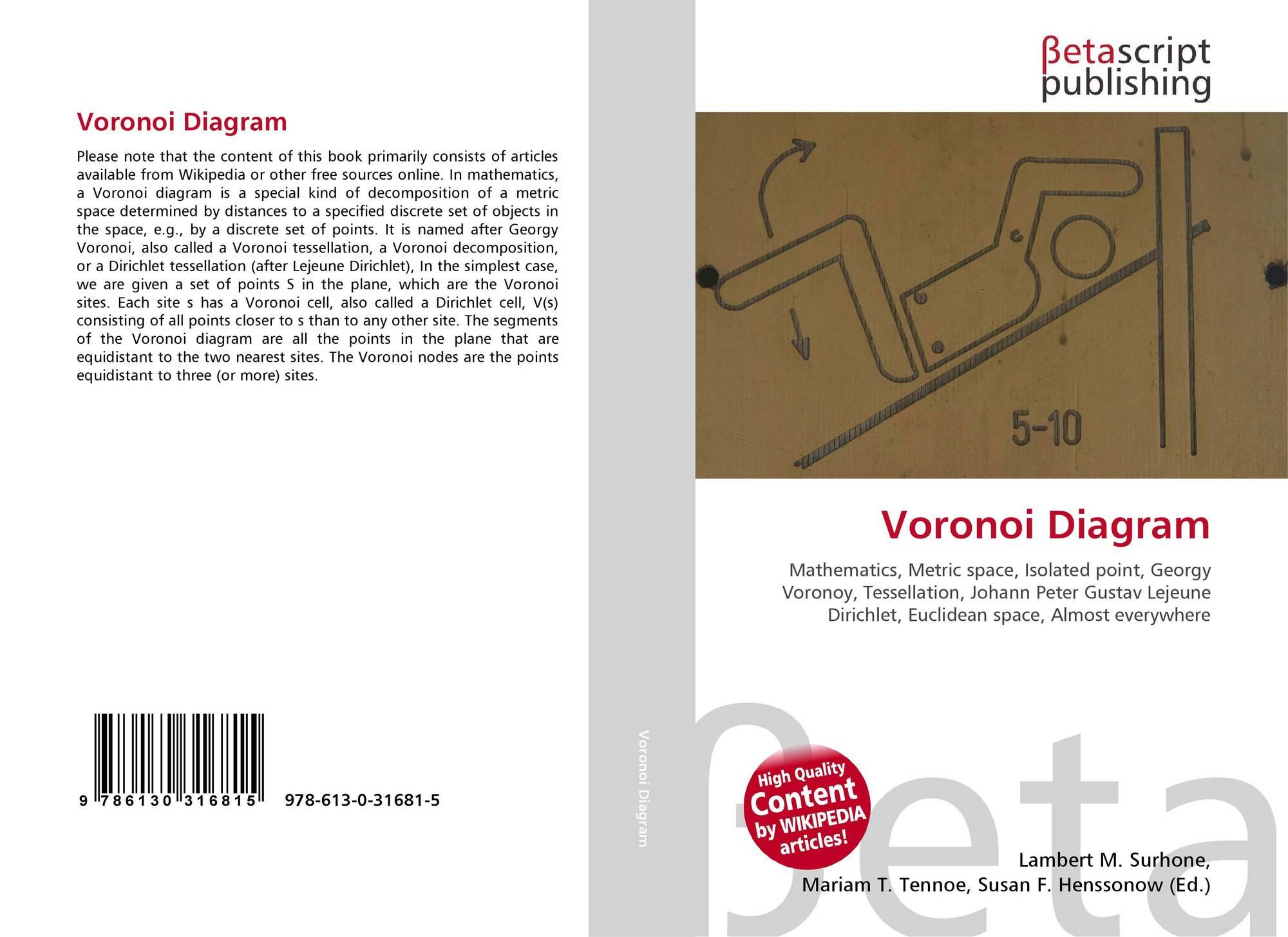 Voronoi Diagram 978 613 0 31681 5 613031681x 9786130316815 Bookcover Of