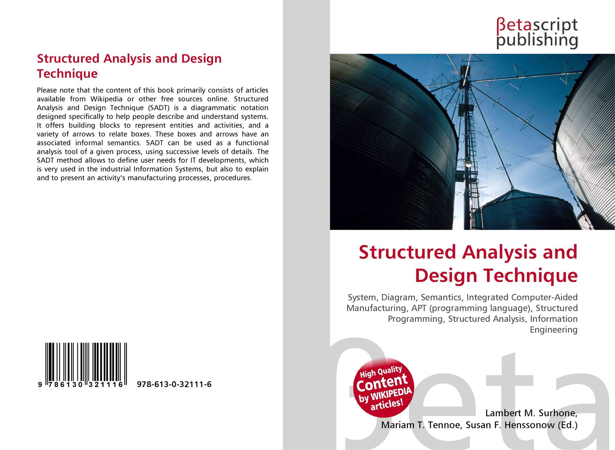 Structured Analysis And Design Technique 978 613 0 32111 6 6130321112 9786130321116