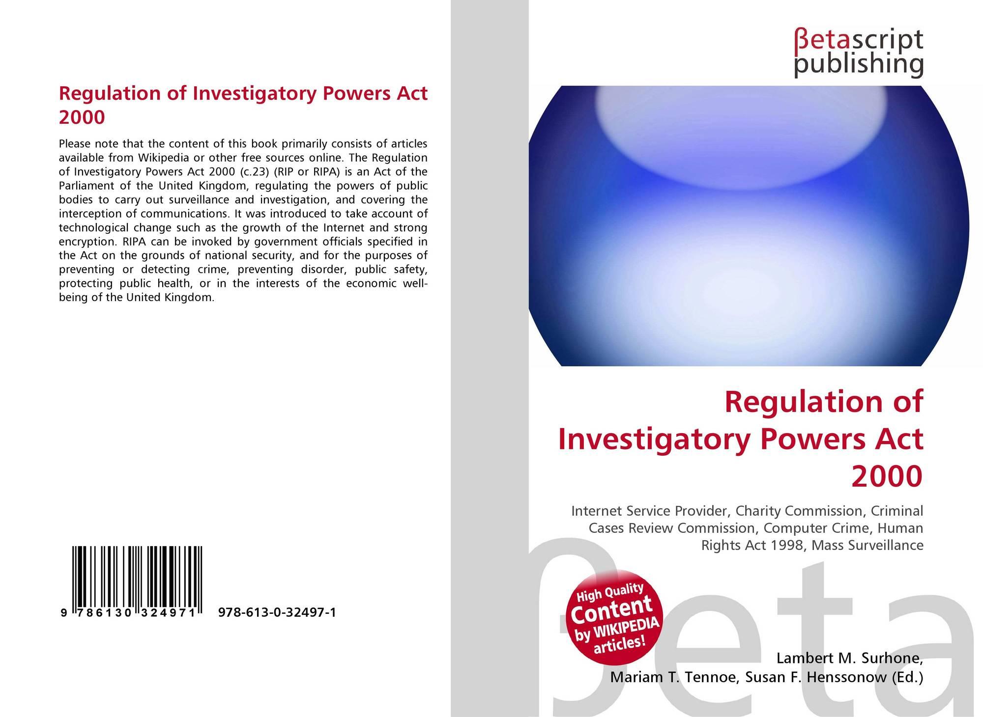 Regulation of Investigatory Powers (Scotland) Bill