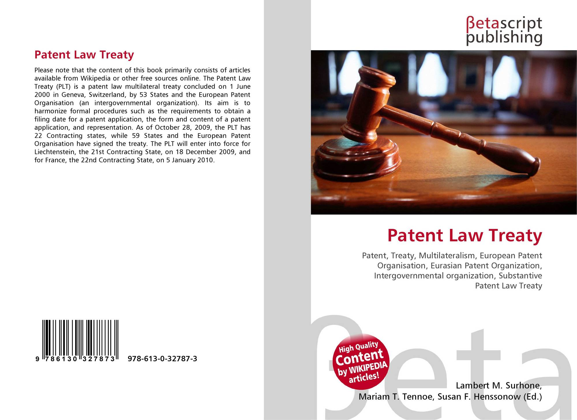 patent law Patent their ideas and inventions, create and protect their trademarks & register and administer their copyrights  the law office of parsons & goltry provides .