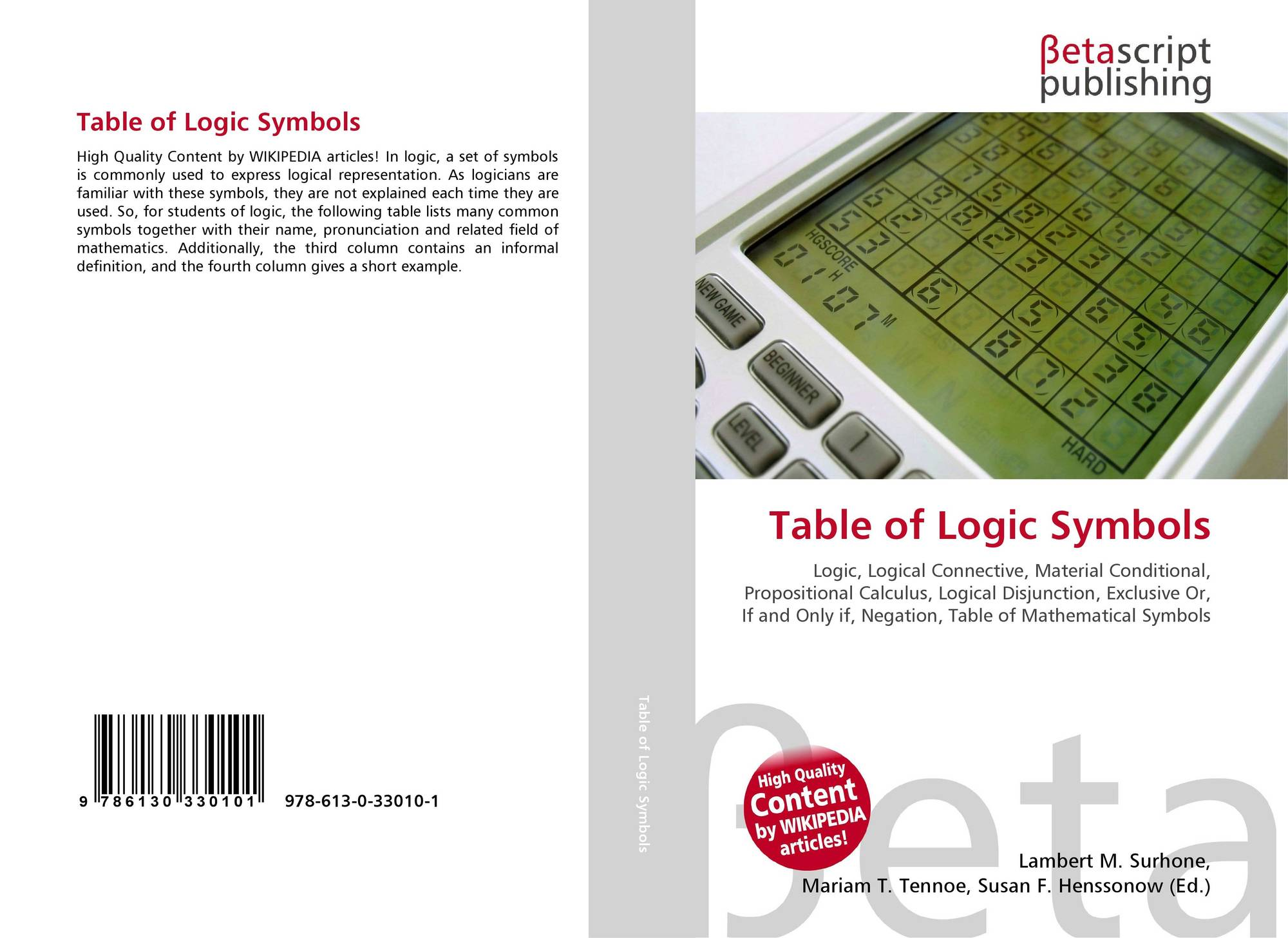 Search results for table of mathematical symbols bookcover of table of logic symbols buycottarizona