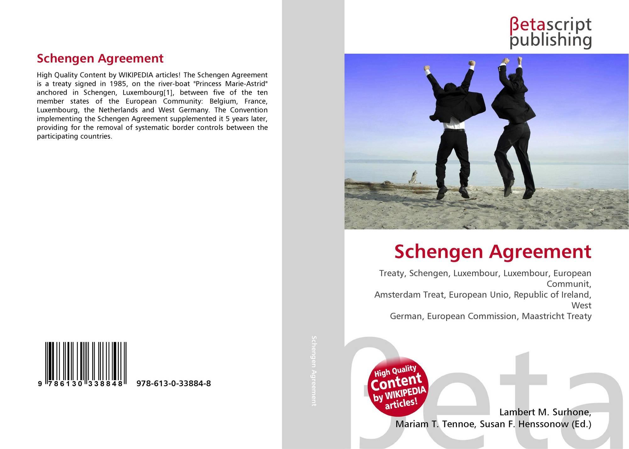 Schengen Agreement 978 613 0 33884 8 6130338848 9786130338848