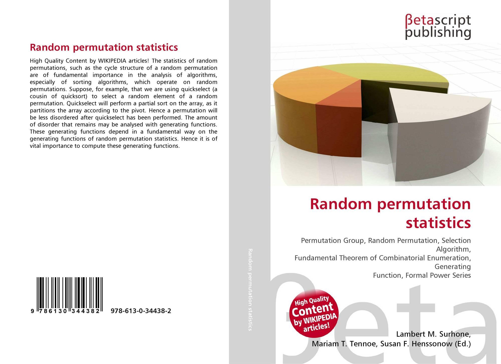 Random permutation statistics, 978-613-0-34438-2, 6130344384