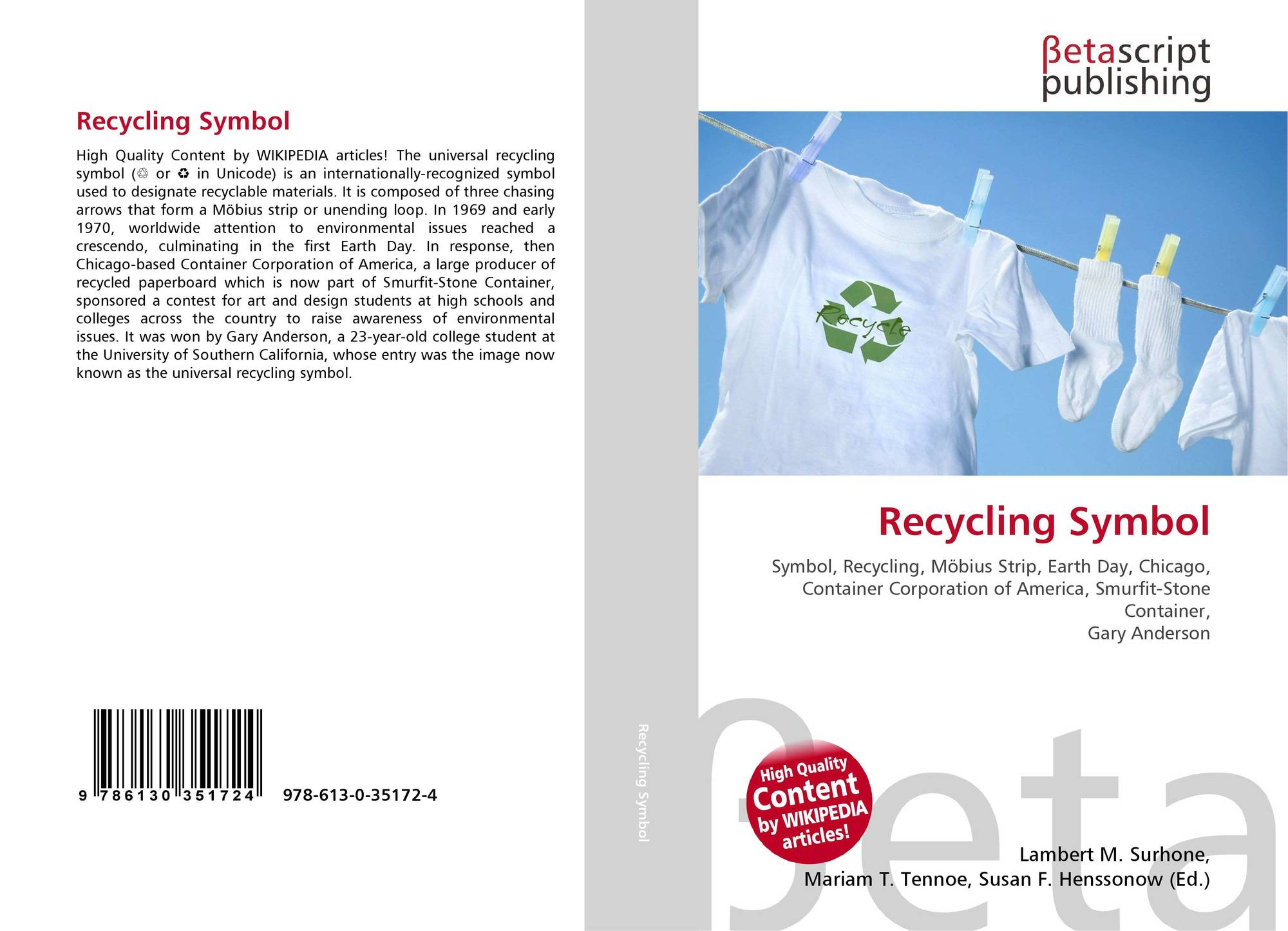 Recycling symbol 978 613 0 35172 4 6130351720 9786130351724 bookcover of recycling symbol 9786130351724 biocorpaavc Choice Image