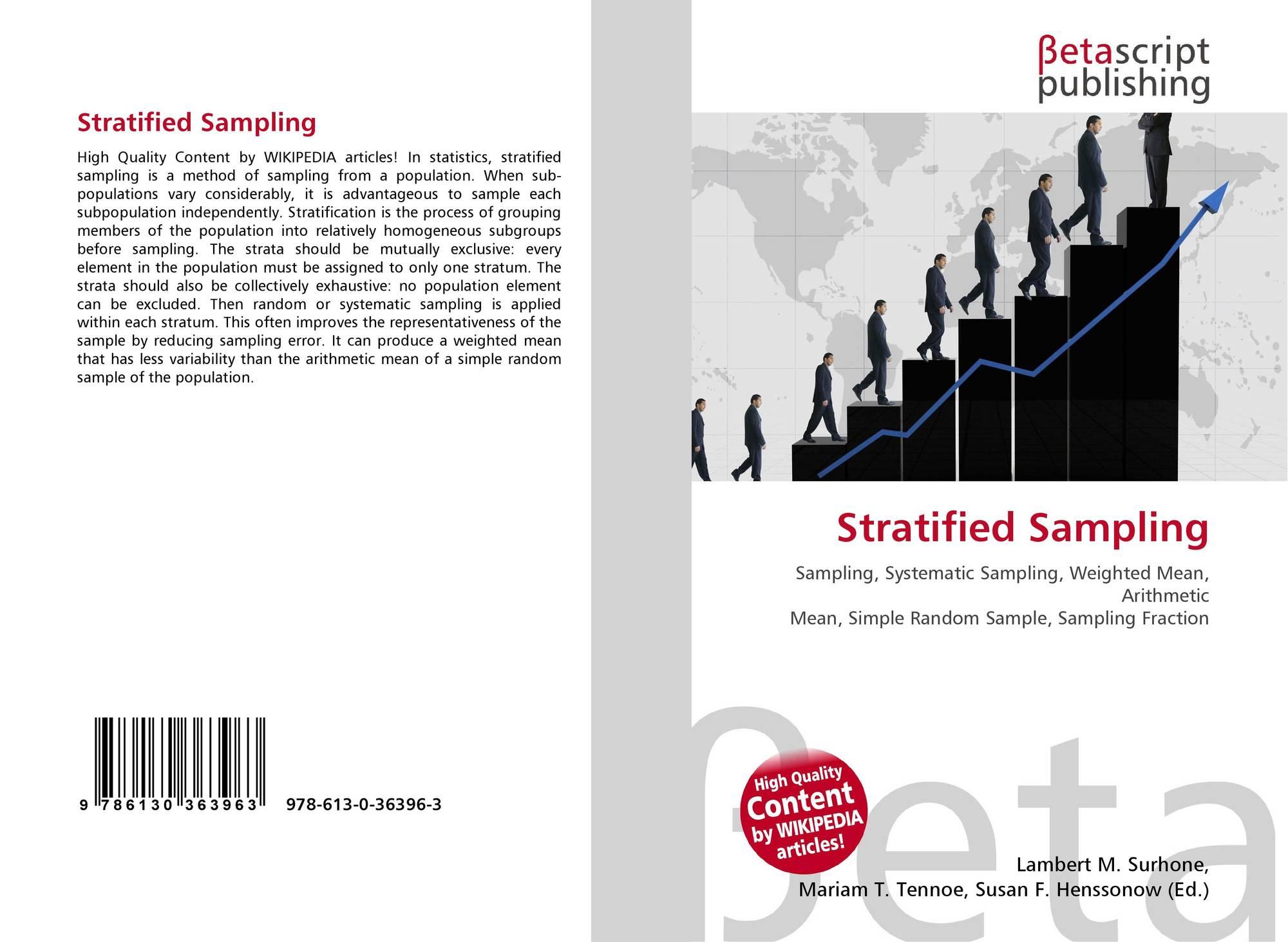 Stratified Sampling, 978-613-0-36396-3, 6130363966 ,9786130363963