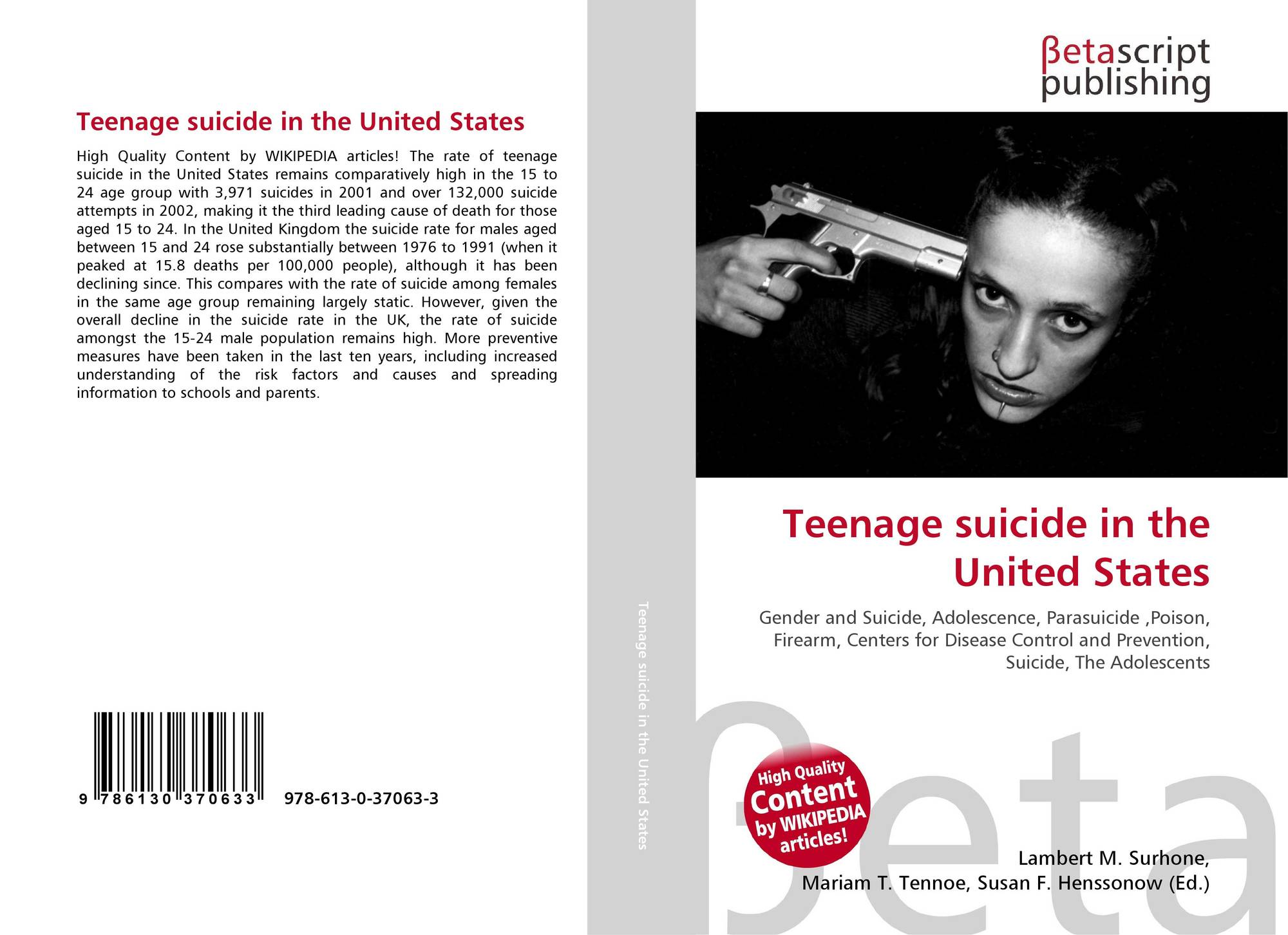 the causes of rising teenage suicide cases in united states