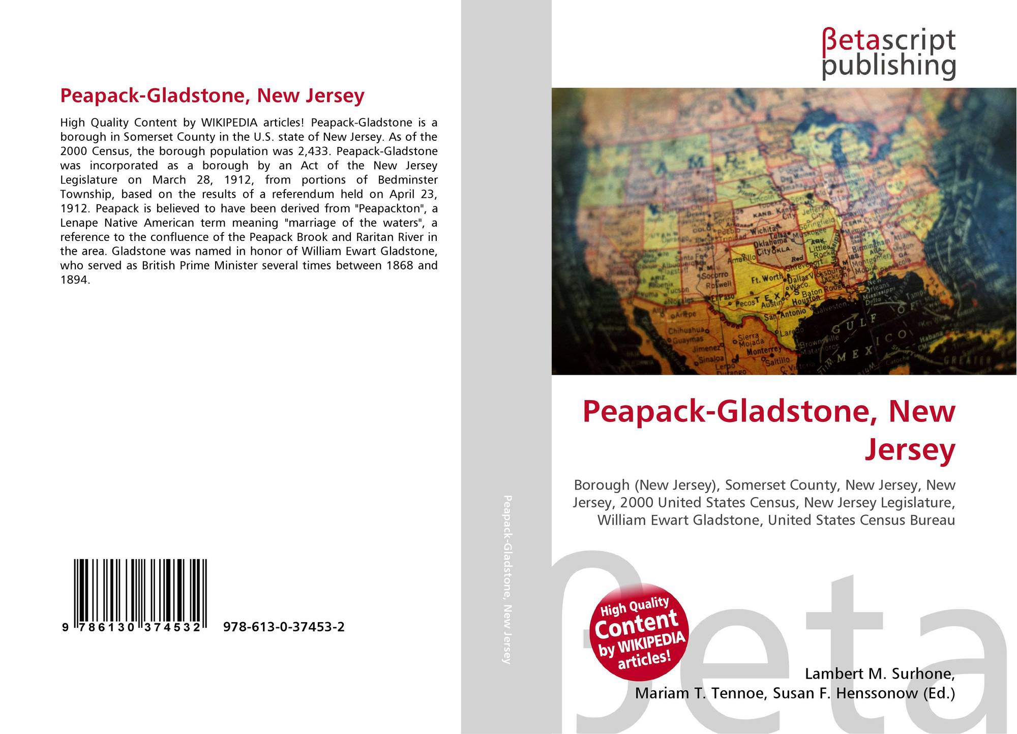 New mexico union county gladstone - Bookcover Of Peapack Gladstone New Jersey