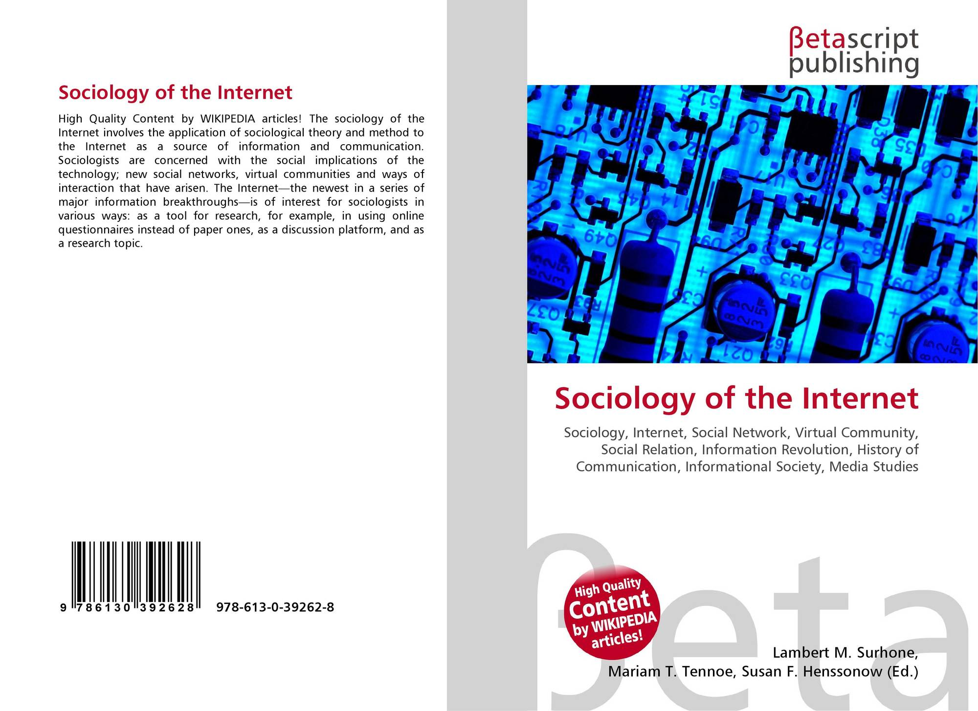 search results for the branches of sociology bookcover of sociology of the internet