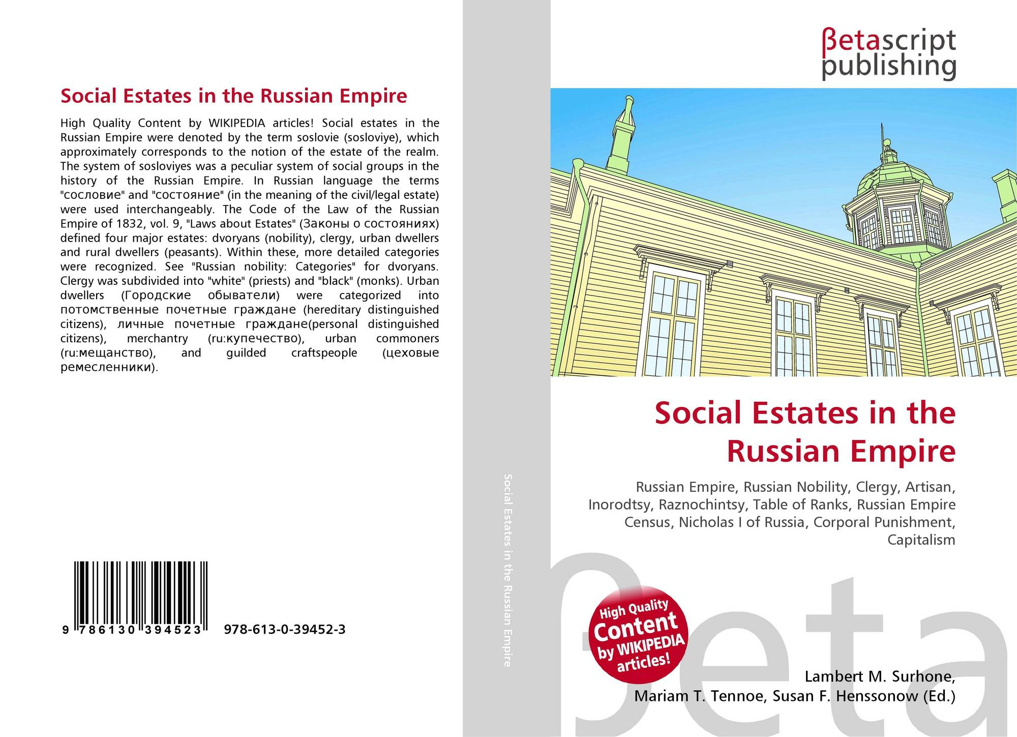 Social Estates in the Russian Empire, 978-613-0-39452-3, 6130394527