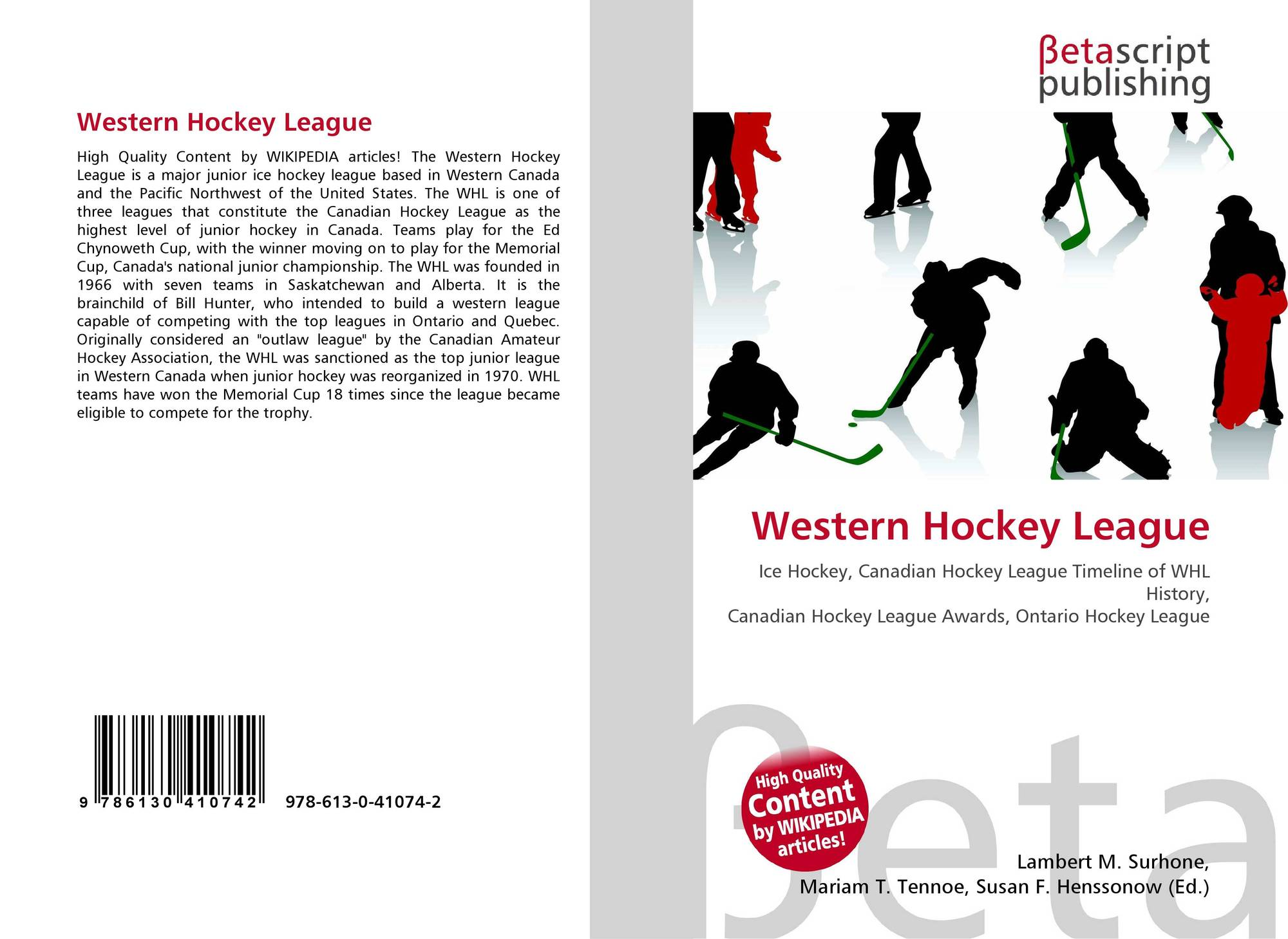 Western Hockey League, 978-613-0-41074-2, 6130410743
