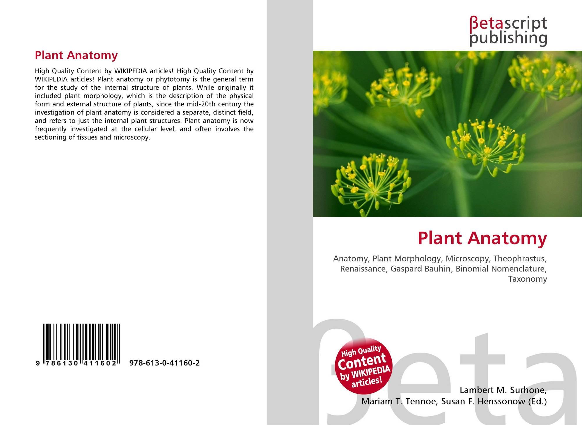 Plant Anatomy, 978-613-0-41160-2, 613041160X ,9786130411602
