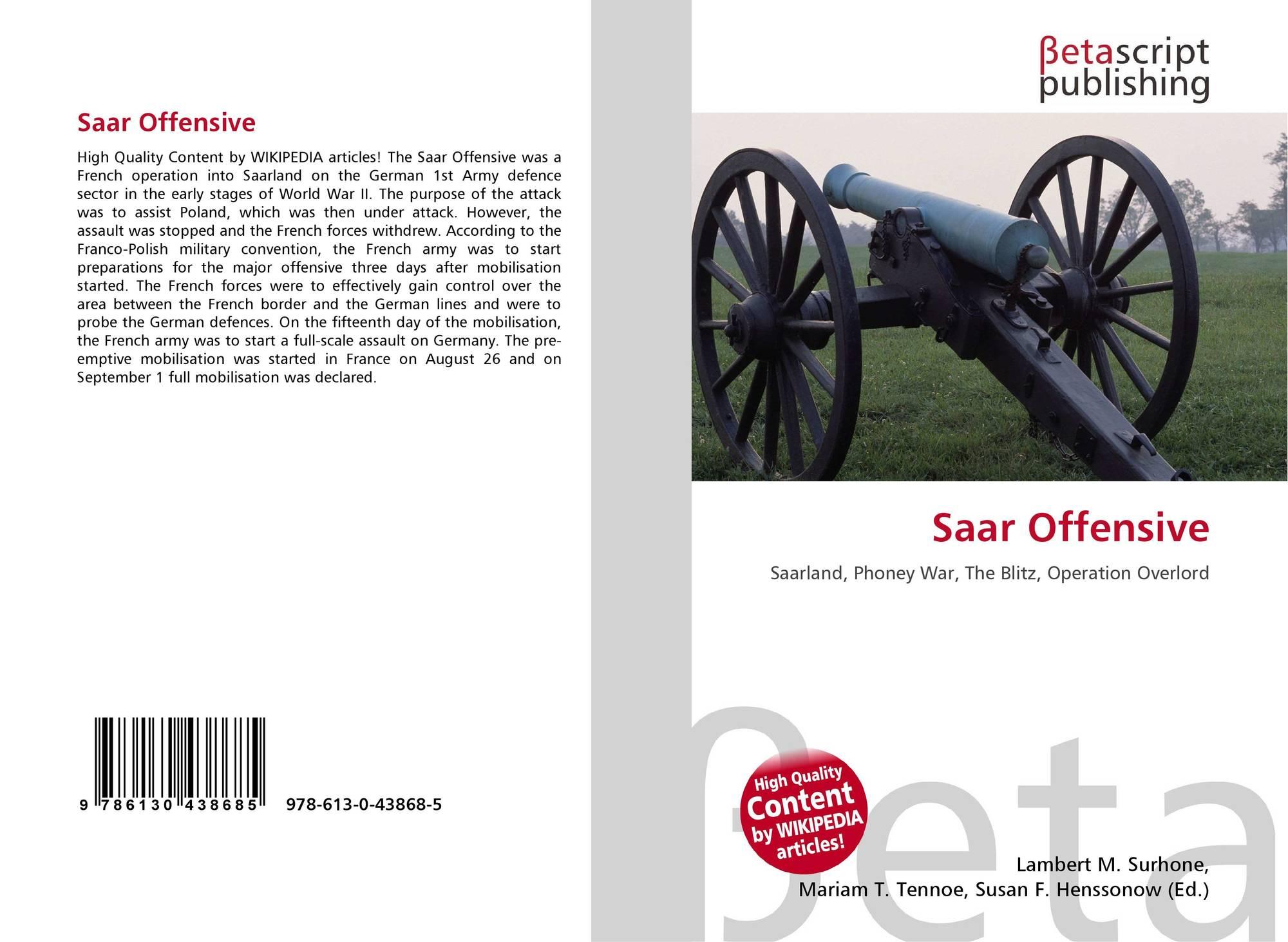 Bookcover Of Saar Offensive