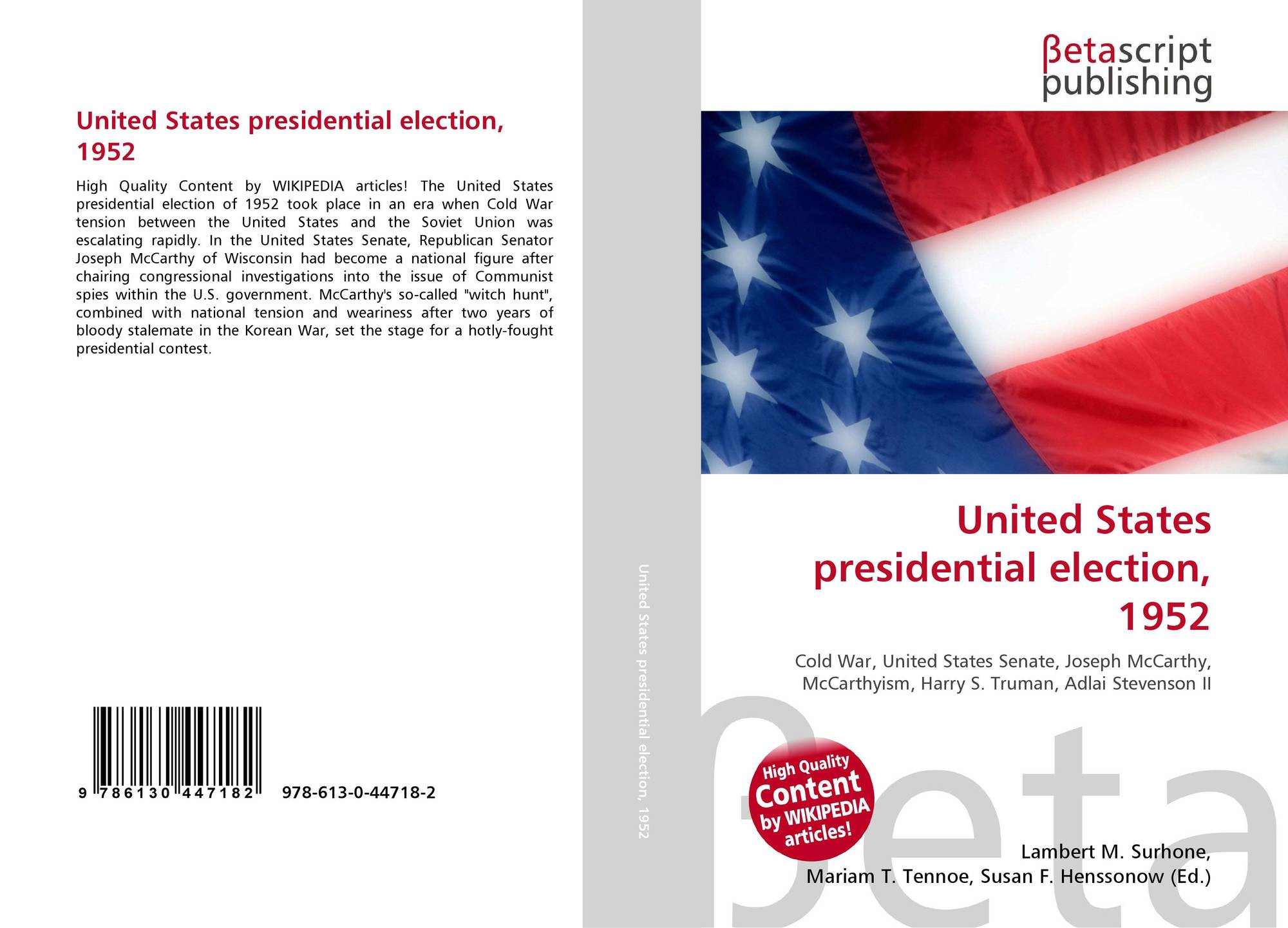 United States presidential election, 1952, 978-613-0-44718 ...
