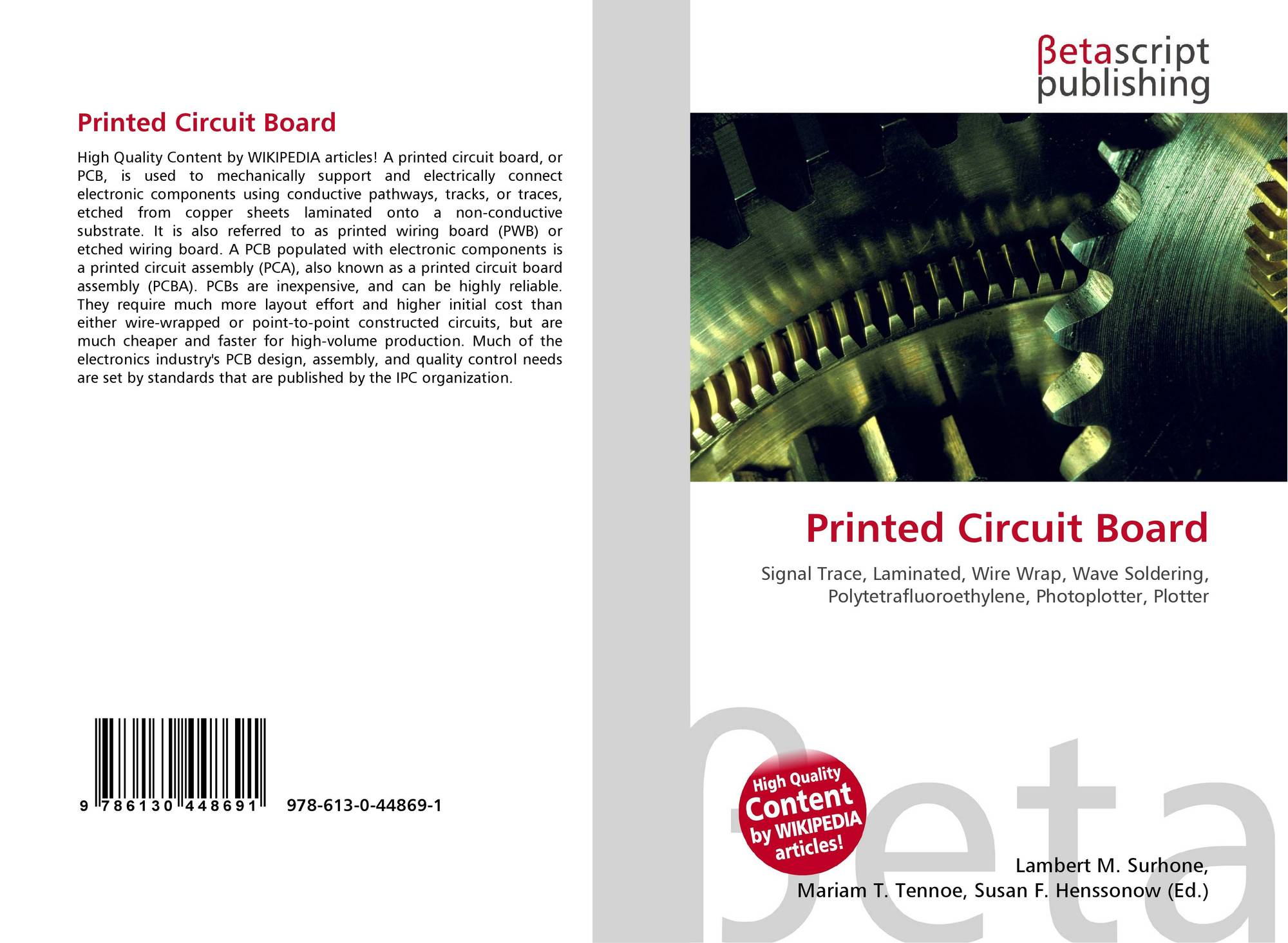 Printed Circuit Board 978 613 0 44869 1 6130448694 9786130448691 Plotter Bookcover Of
