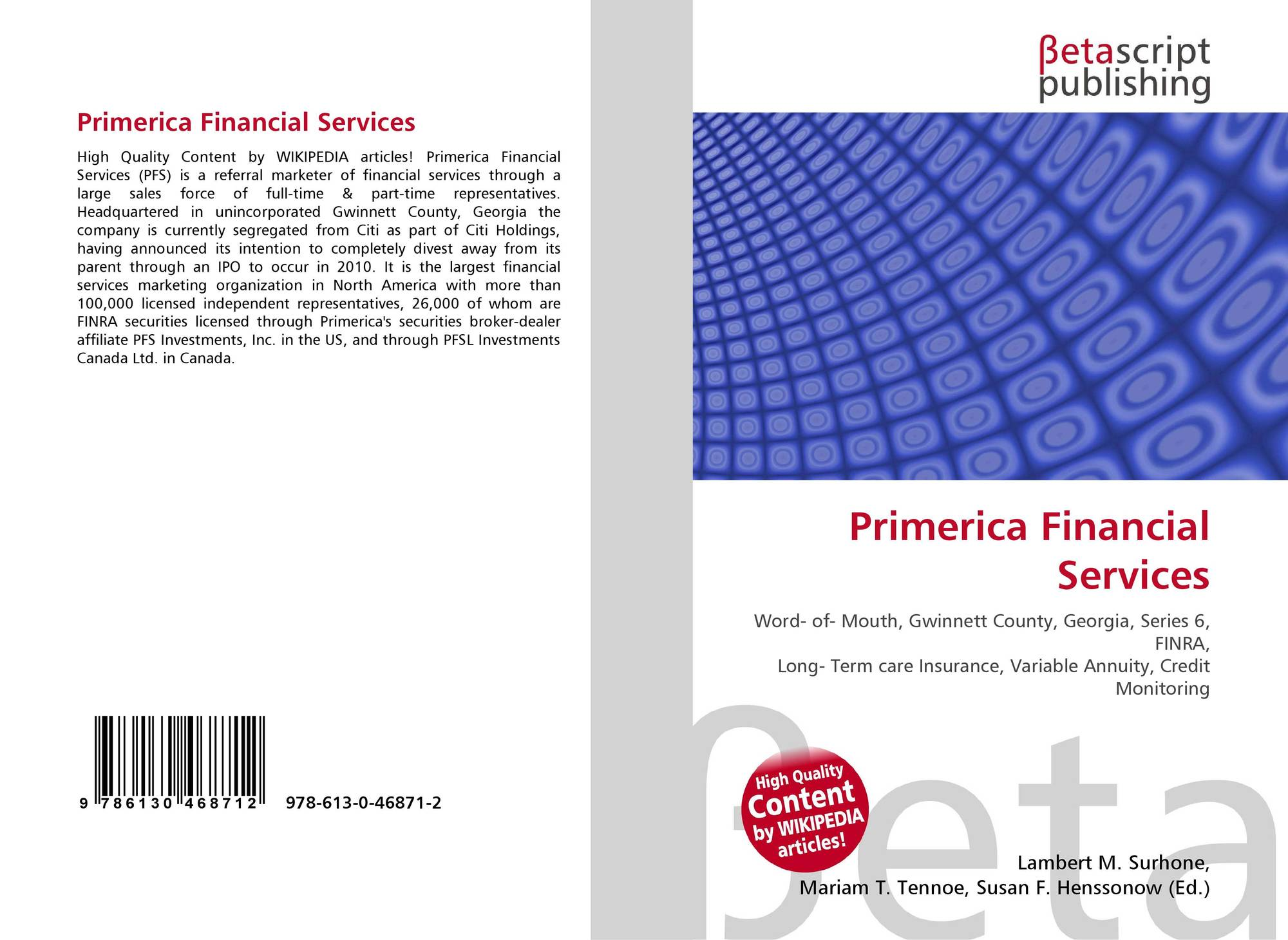 Financial Services: What Is Primerica Financial Services