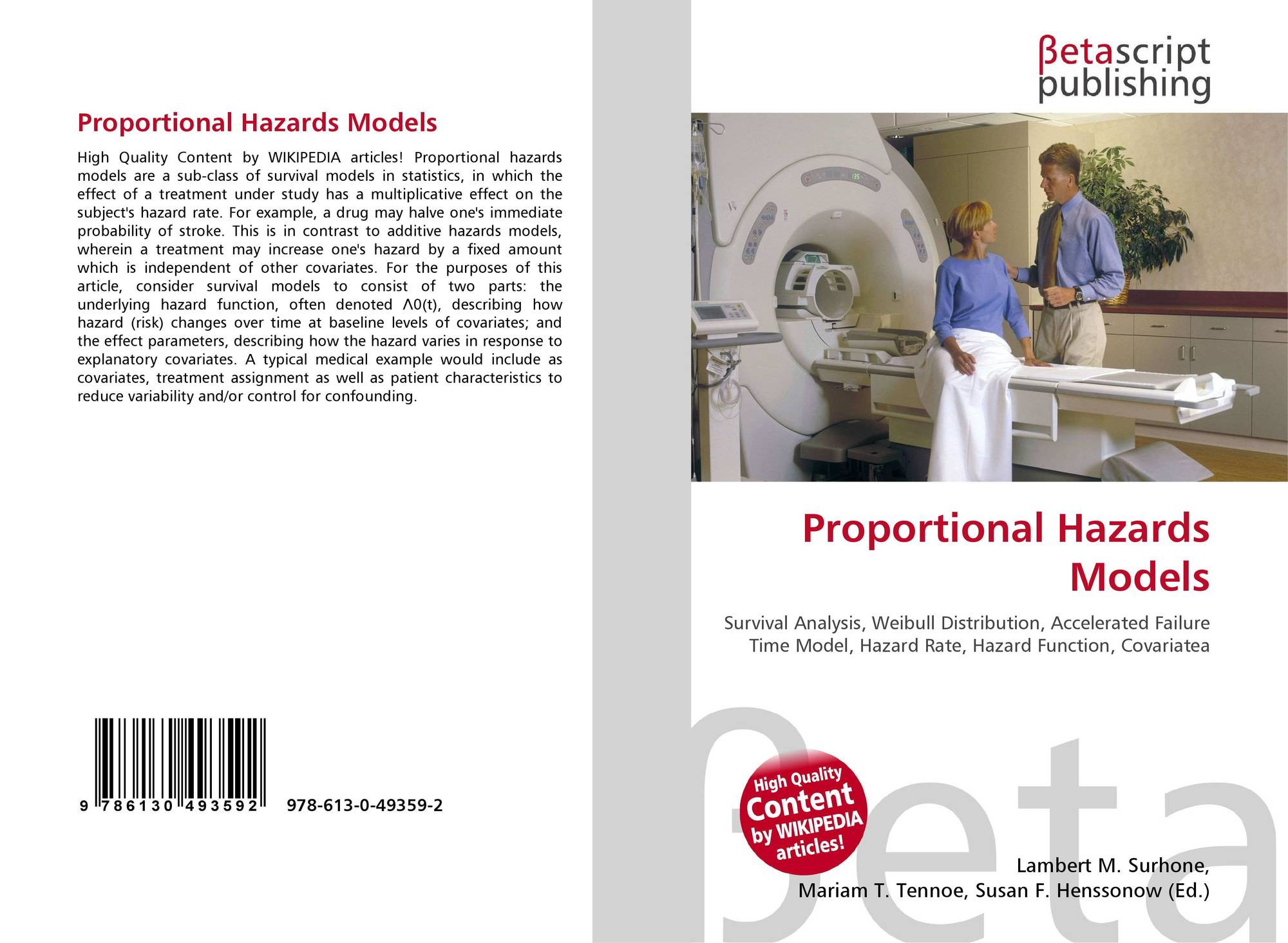 Proportional Hazards Models, 978-613-0-49359-2, 6130493592