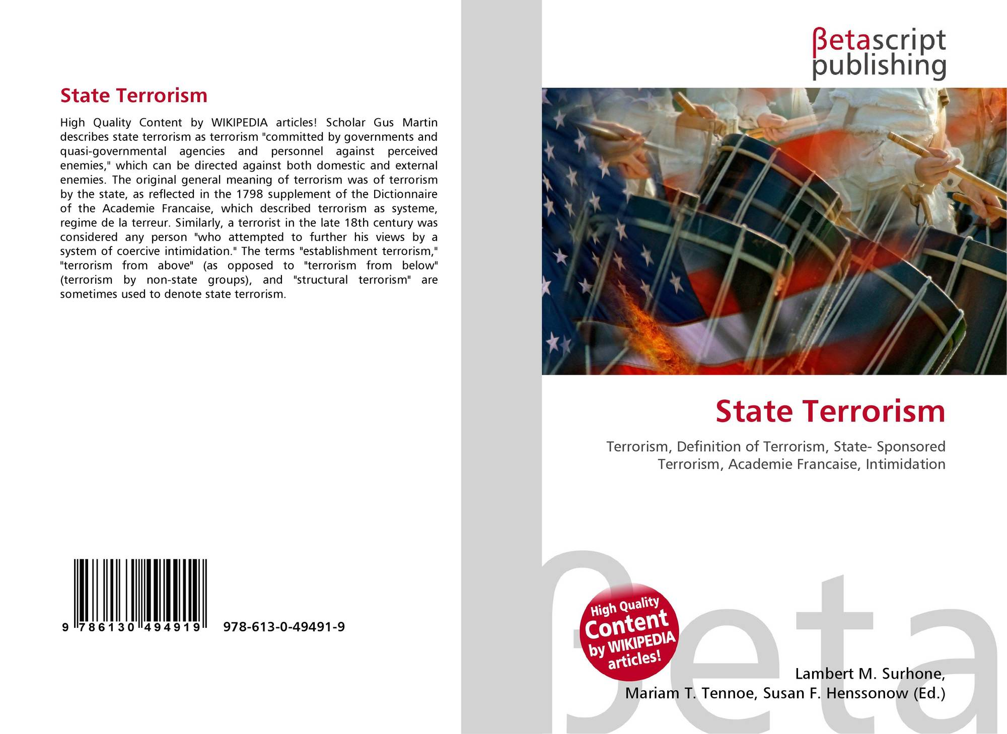 state sponsored terrorism examples