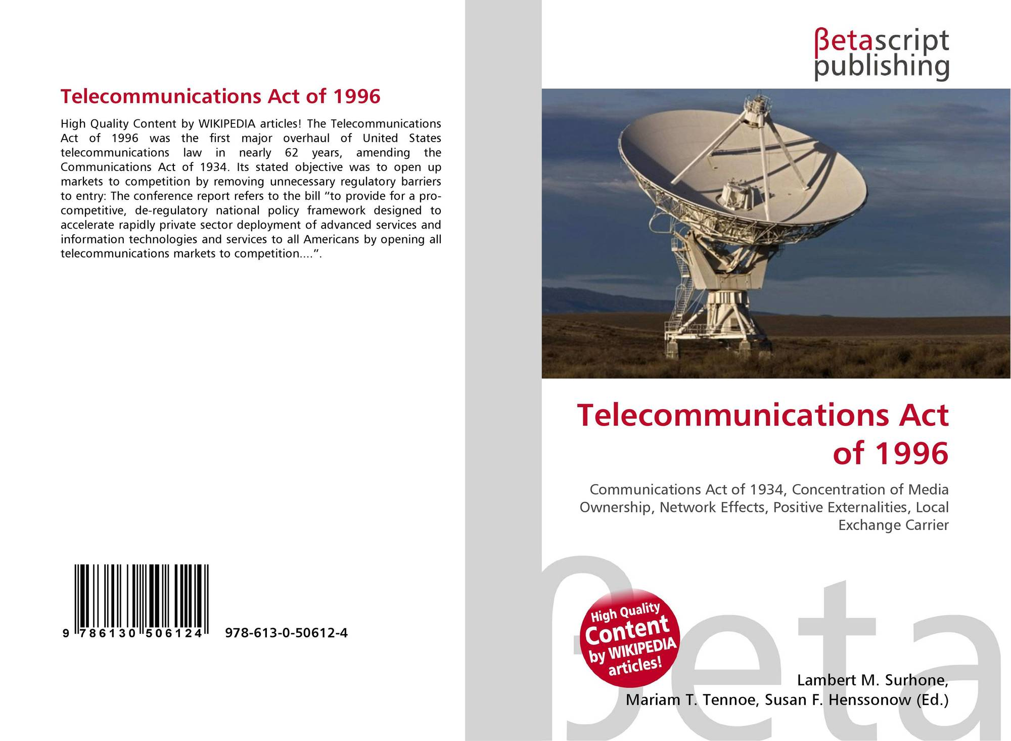 an analysis of signing of the law of communication act of 1934 Fcc rules under section 255 of the communications act require telecommunications equipment manufacturers and service providers to make their products and services accessible to people with disabilities, if such access is readily achievable.