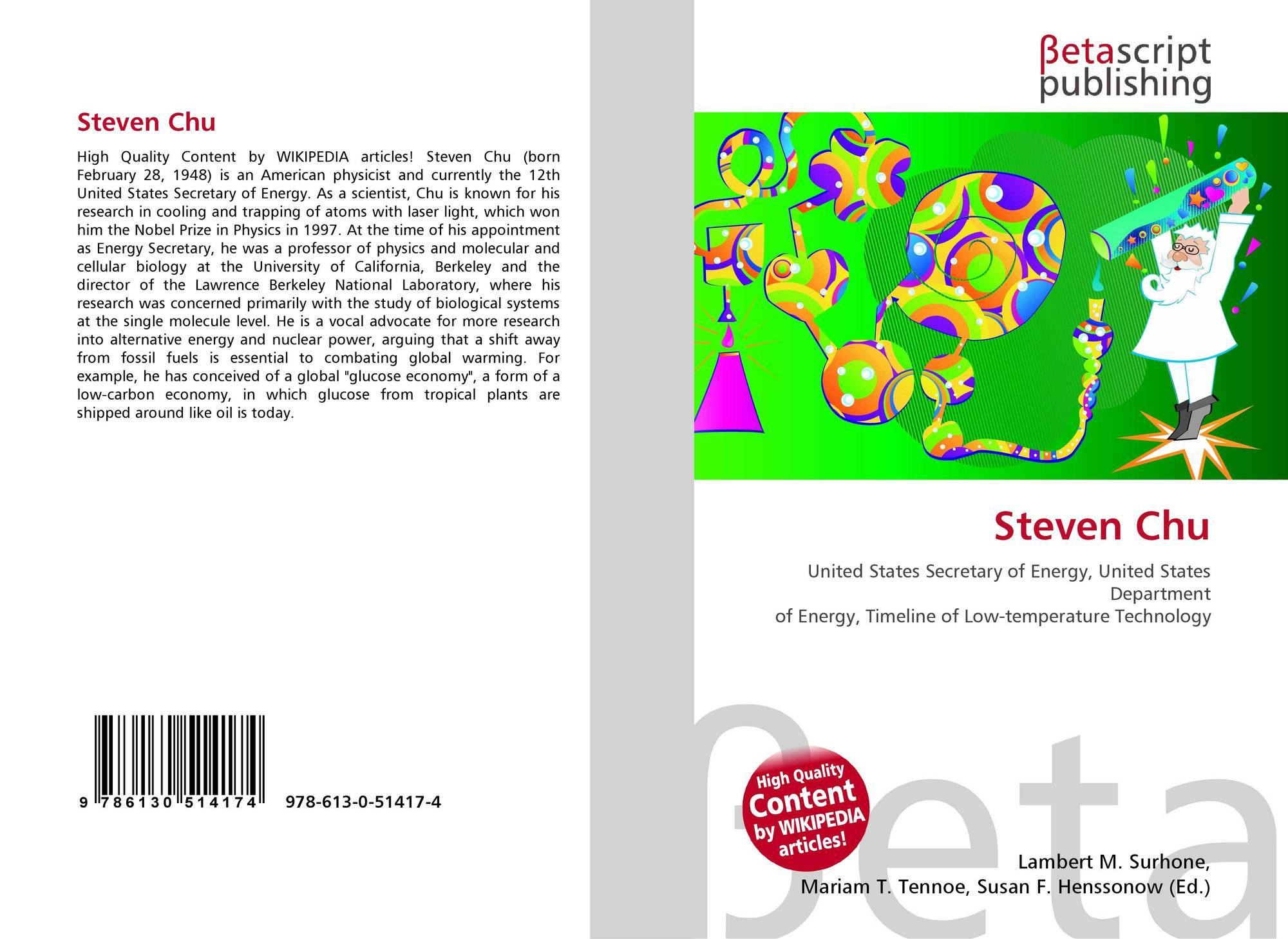 search results for steven chu bookcover of steven chu