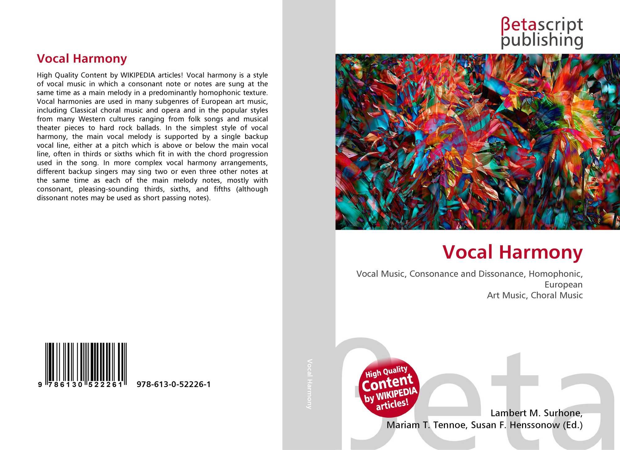 Vocal Harmony, 978-613-0-52226-1, 6130522266 ,9786130522261