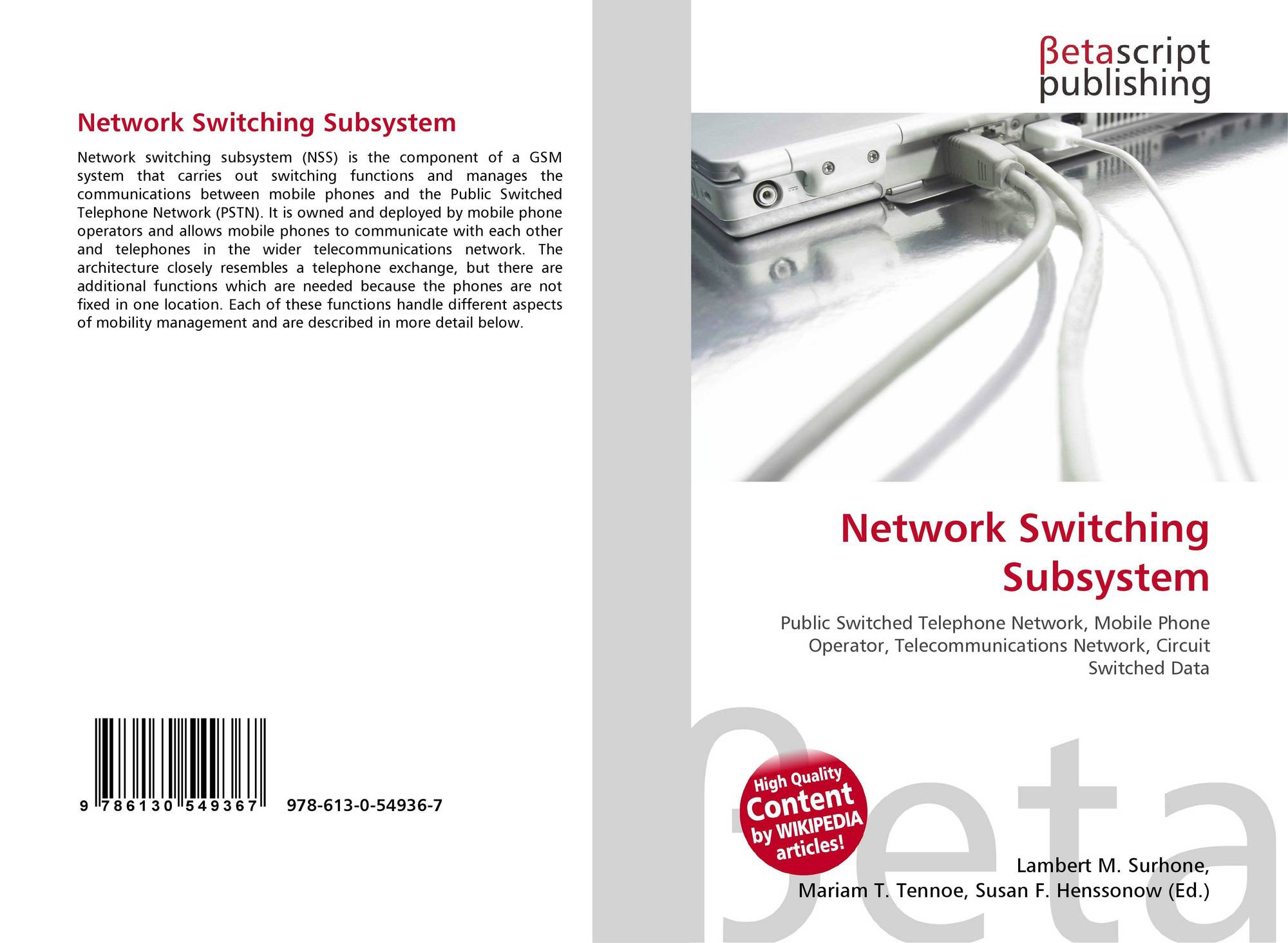 Network Switching Subsystem 978 613 0 54936 7 6130549369 Circuitswitched 9786130549367