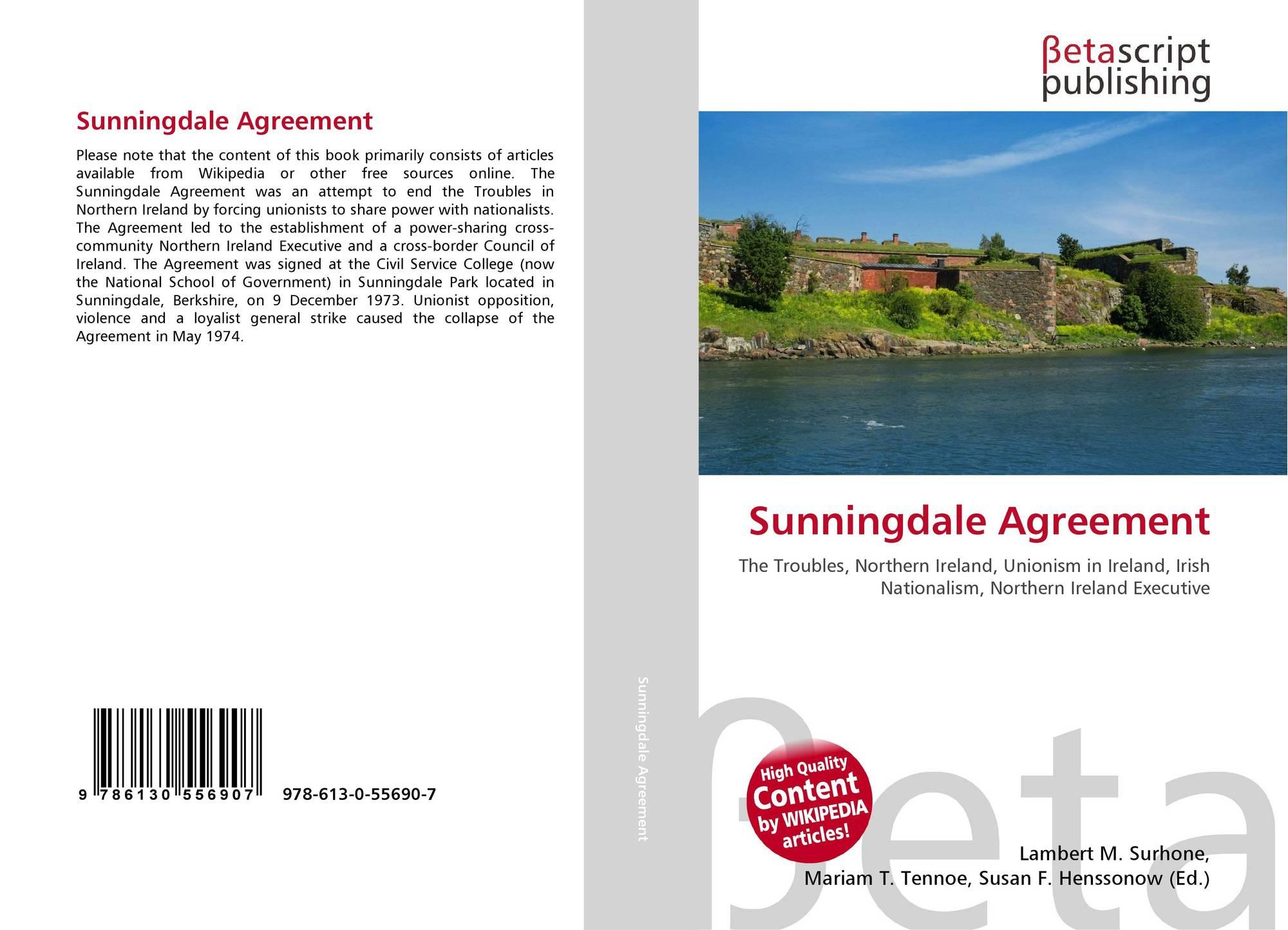Sunningdale Agreement 978 613 0 55690 7 613055690x 9786130556907