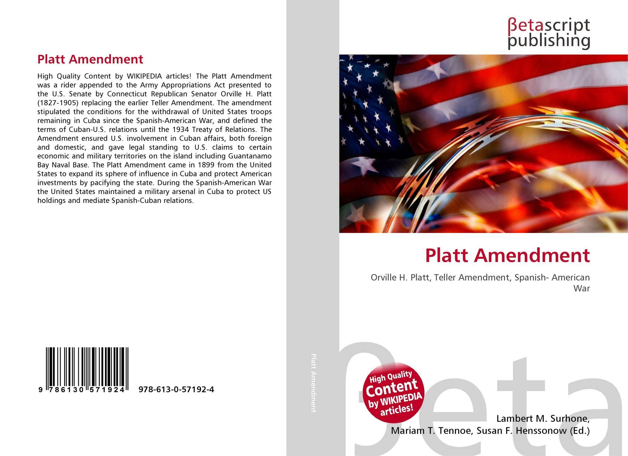 teller amendment and platt amendment