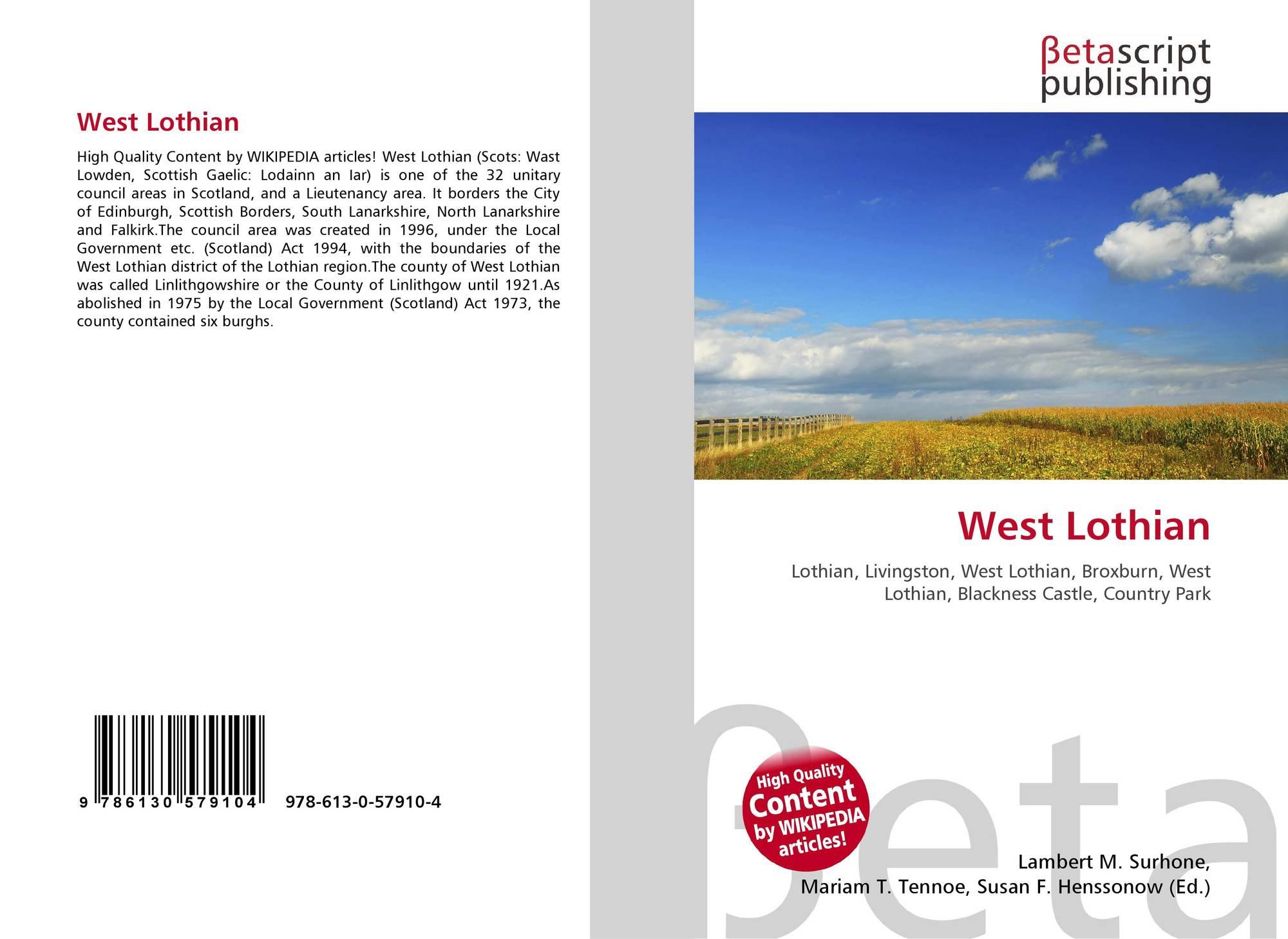 Обложка west lothian council election, 2007