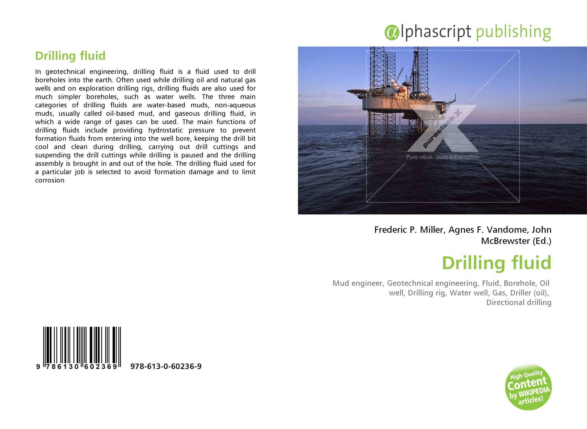 Drilling fluid, 978-613-0-60236-9, 6130602367 ,9786130602369