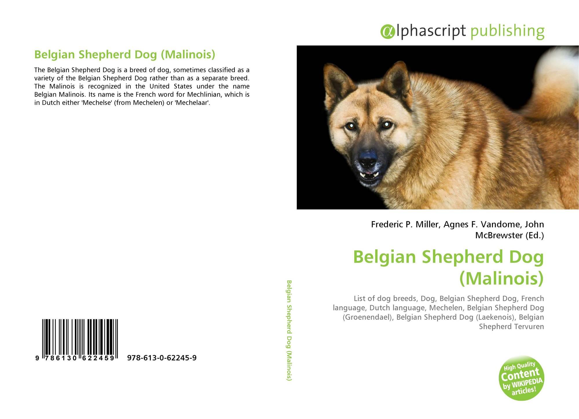 Belgian Shepherd Dog Malinois 978 613 0 62245 9