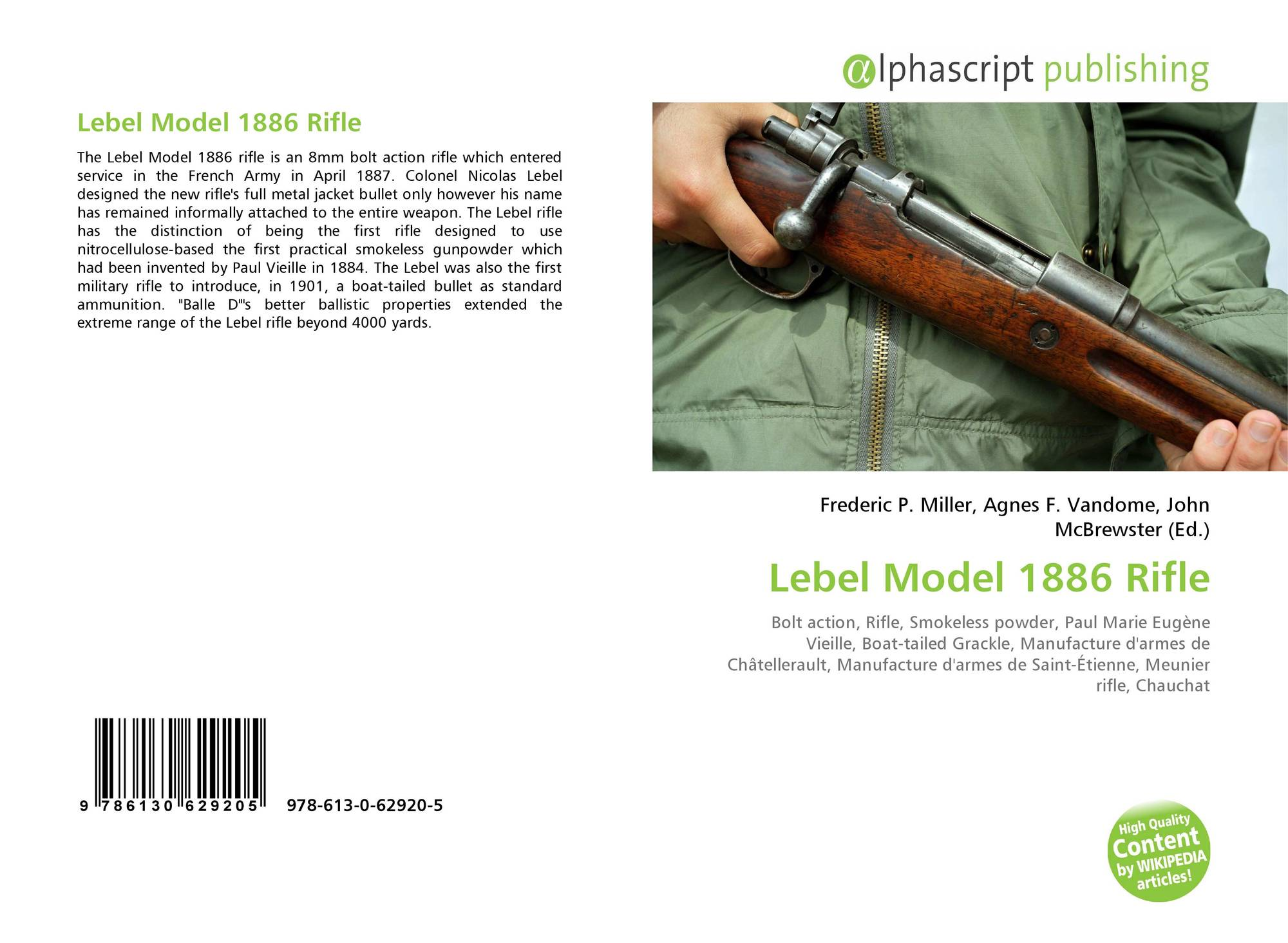 Lebel Model 1886 Rifle, 978-613-0-62920-5, 6130629206