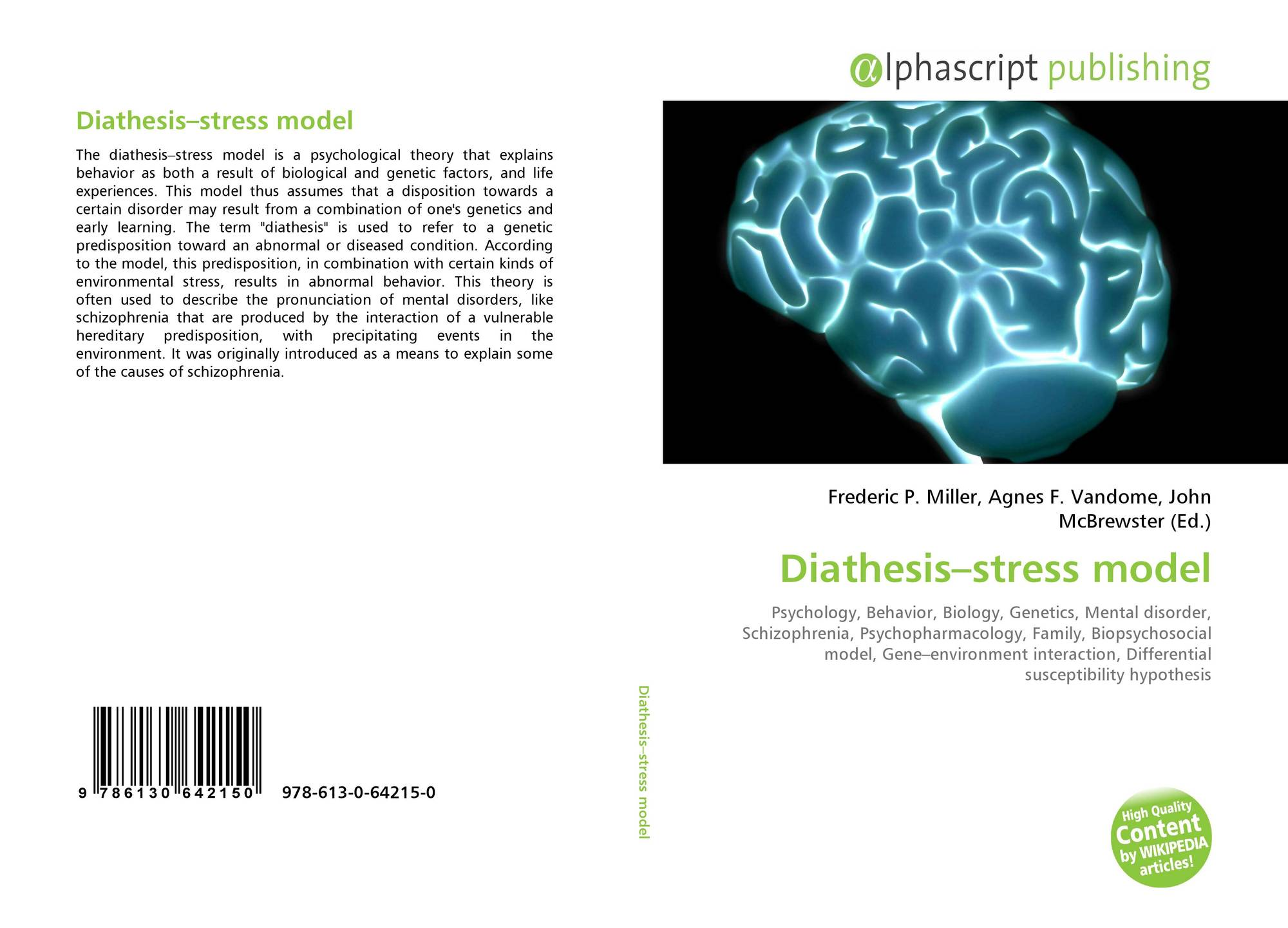 what is the diathesis stress model Ptsd on other disorders and diathesis- stress model friedman and schustack (2009) explained that the diathesis- stress model is a predisposition, usually seen as heredity, of the body to a specific disease or disorder.