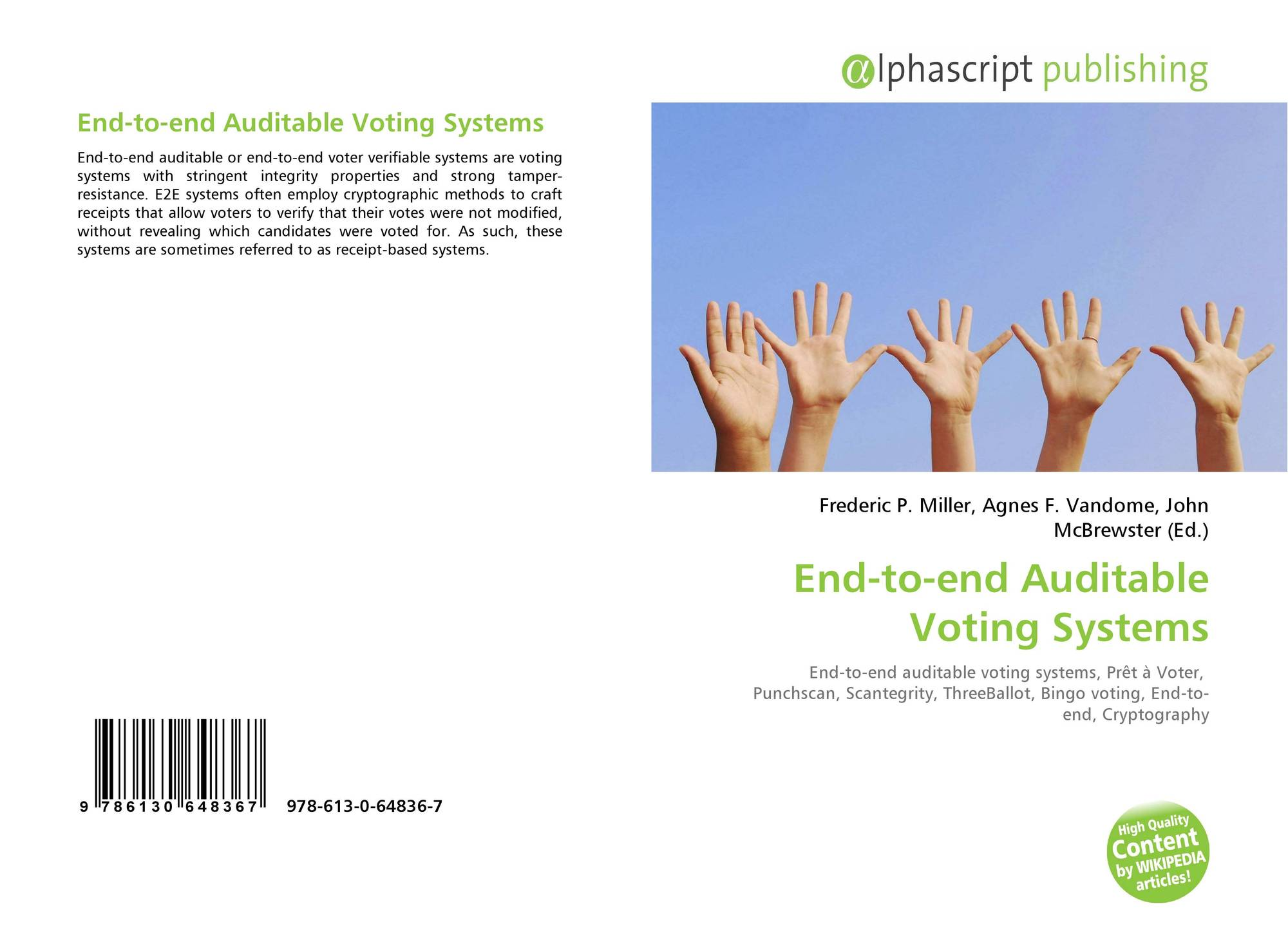 End-to-end auditable voting systems