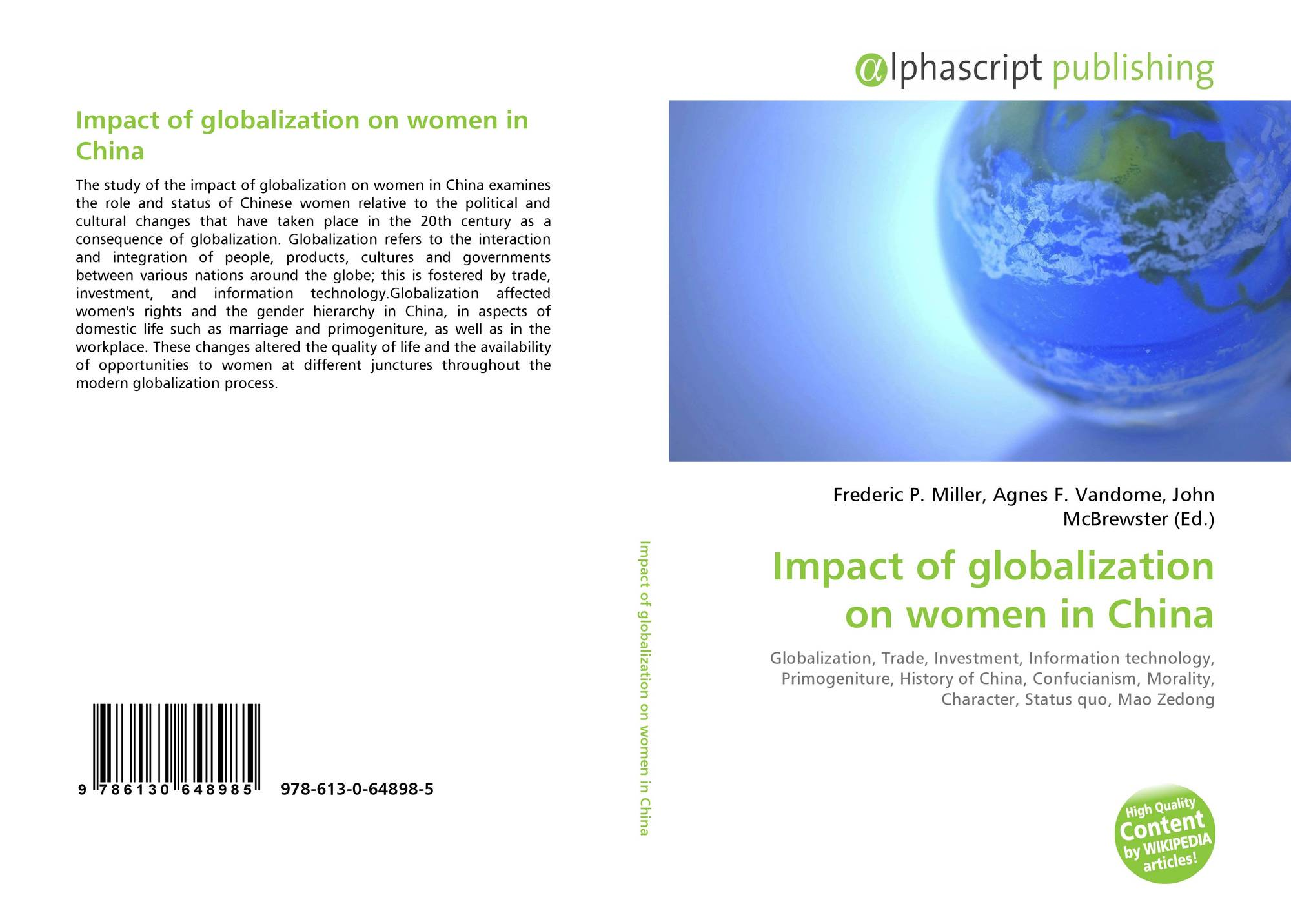 Globalisation and its Impact on Women: A Critical Assessment