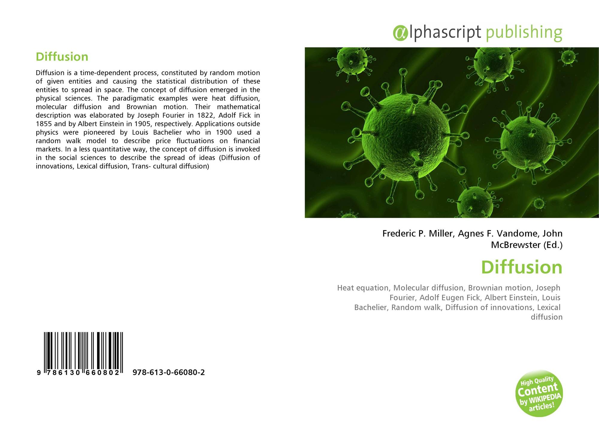 a description of the process of diffusion