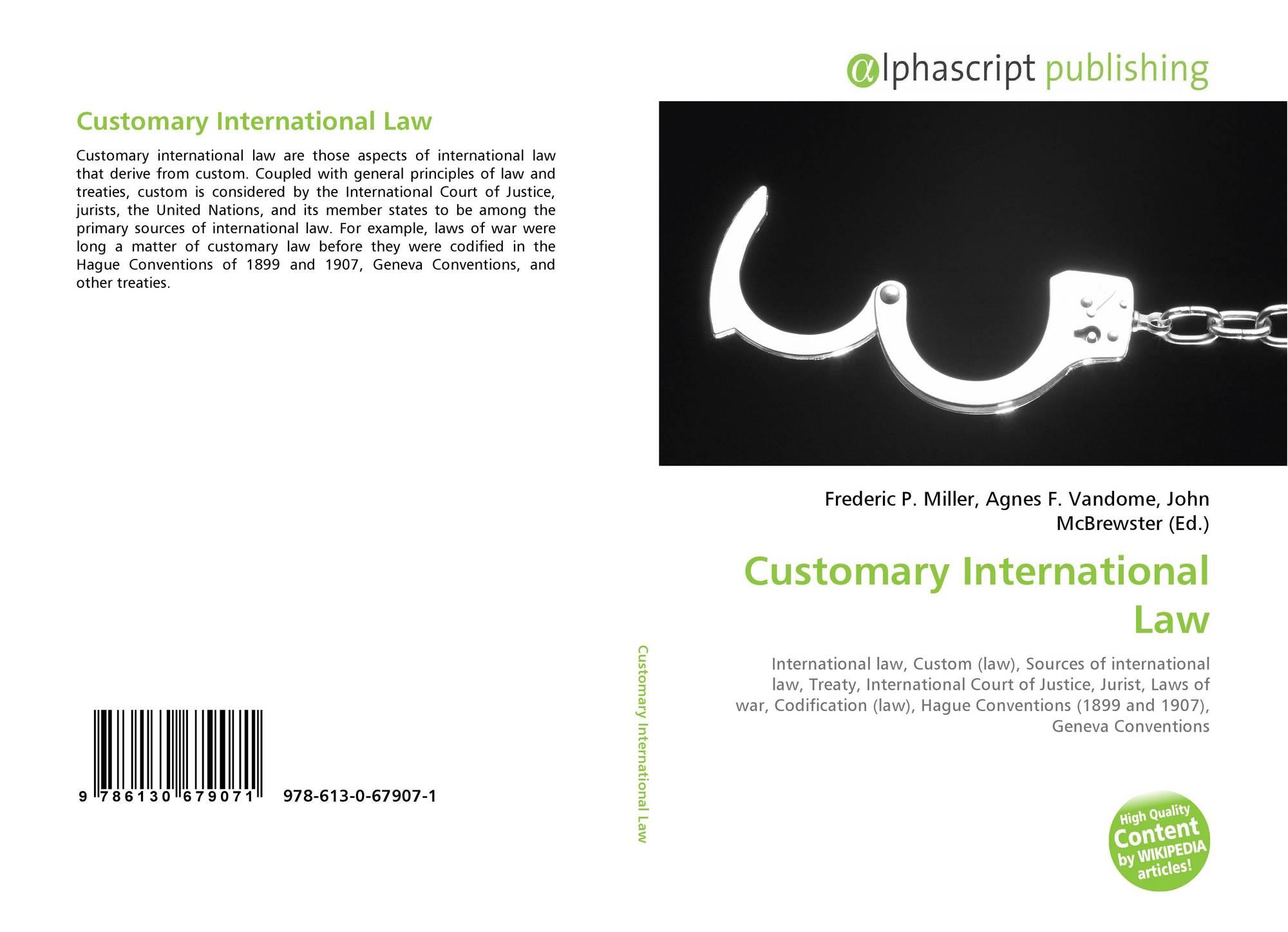 international customs law